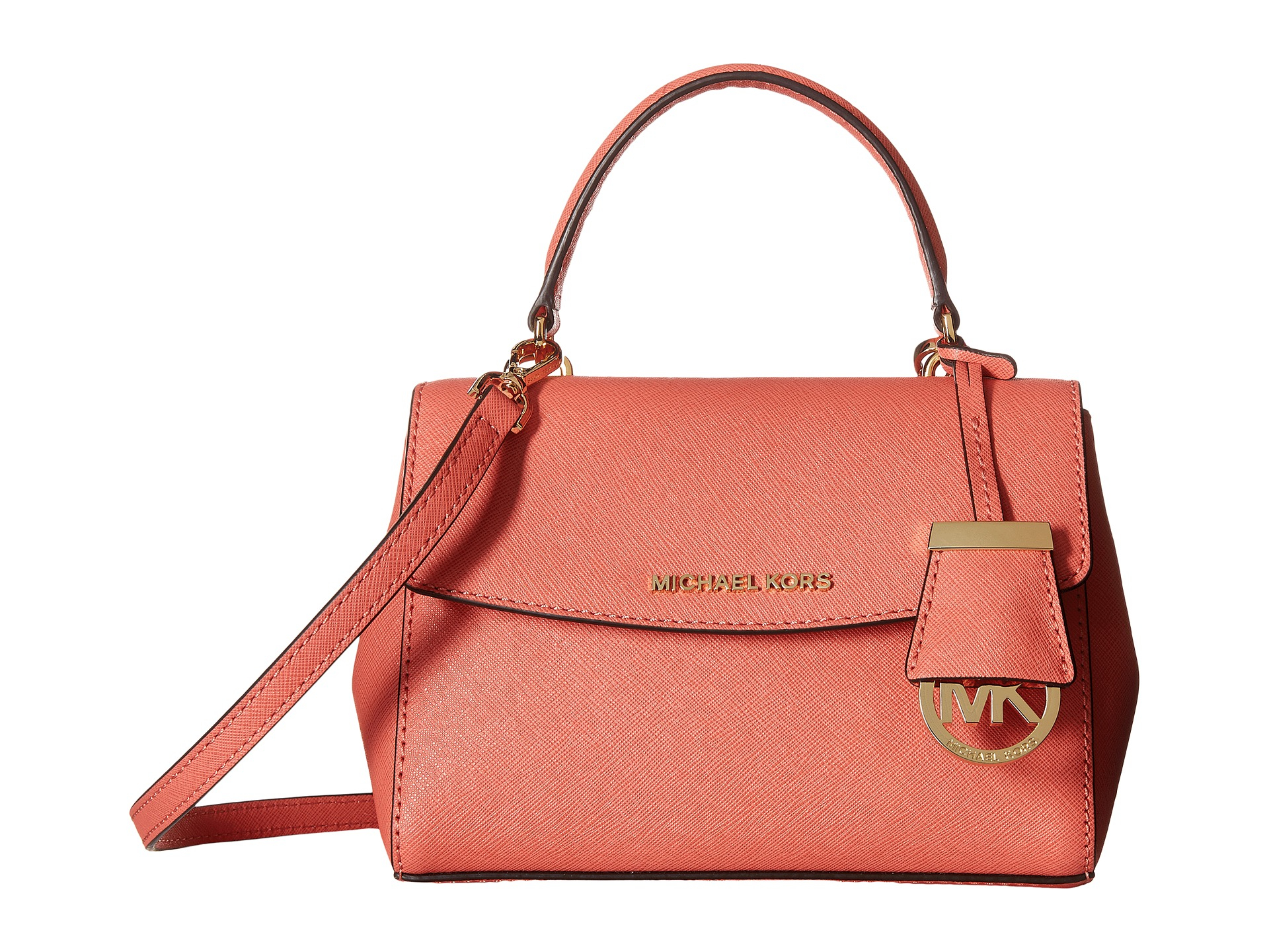 afc21fbe0153 ... cindy large dome crossbody leather nwt b9887 efa81 france lyst michael  michael kors ava extra small crossbody in pink 2f5b4 d144b ...