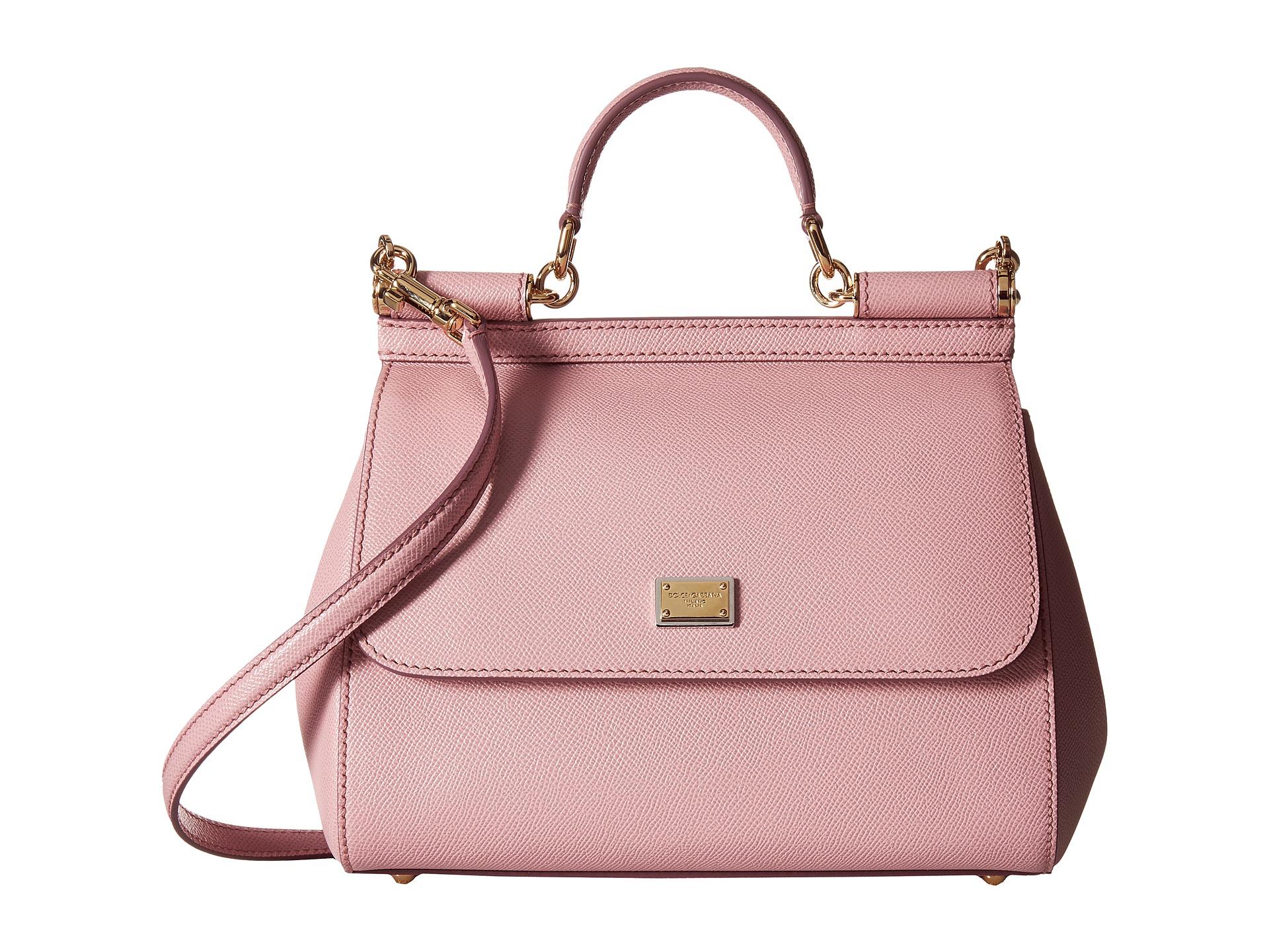 1d09c35299 Lyst - Dolce   Gabbana Borsa A Mano Vitello Stampa Dauphine in Pink