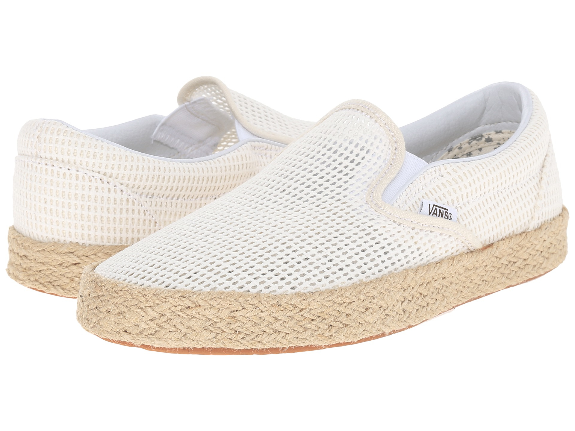 97af23b614d Lyst - Vans Classic Slip-on Espadrille in White for Men