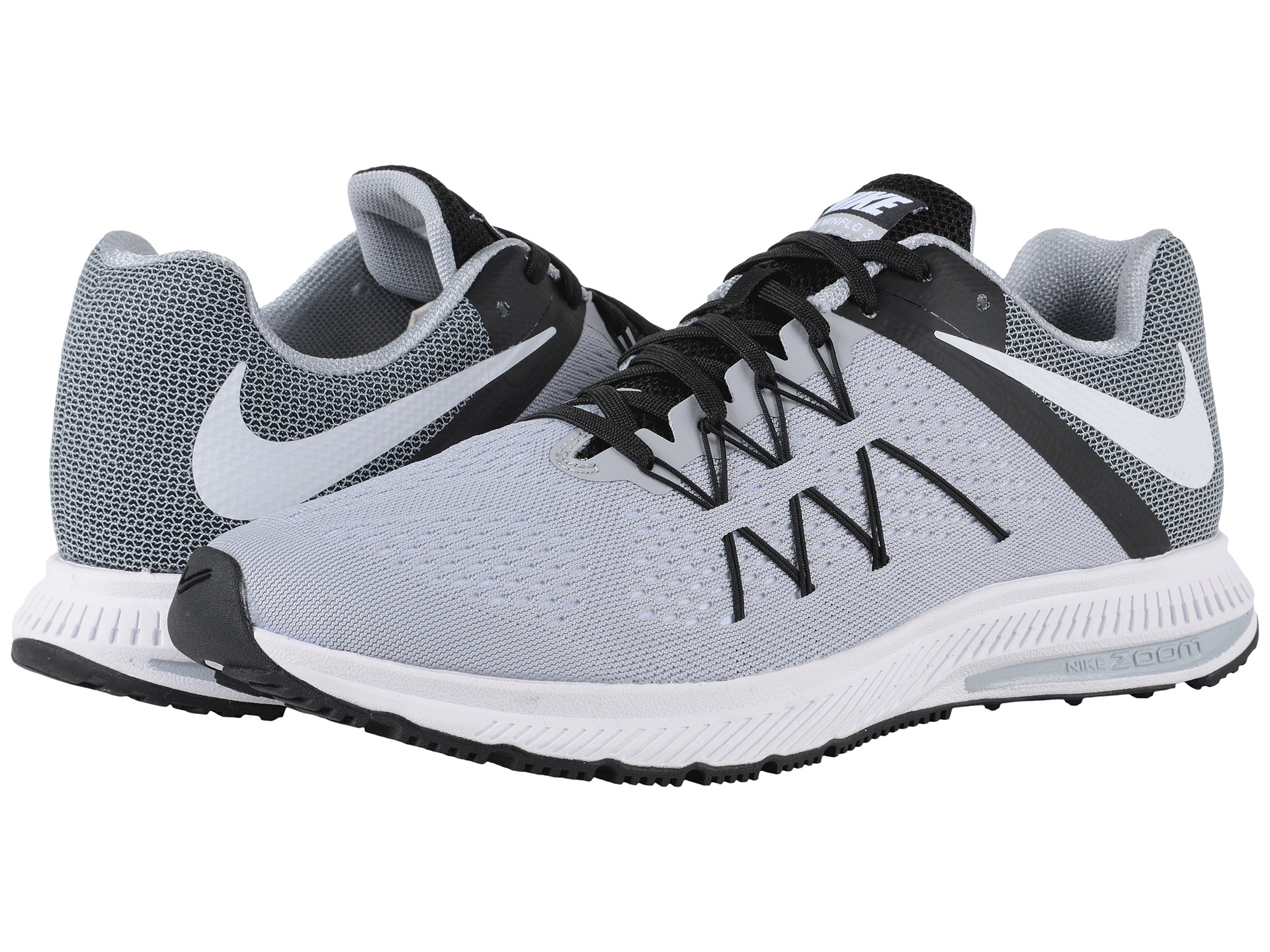 online store 774fc 9f60e ... best price lyst nike zoom winflo 3 in gray for men 74fb3 2674c