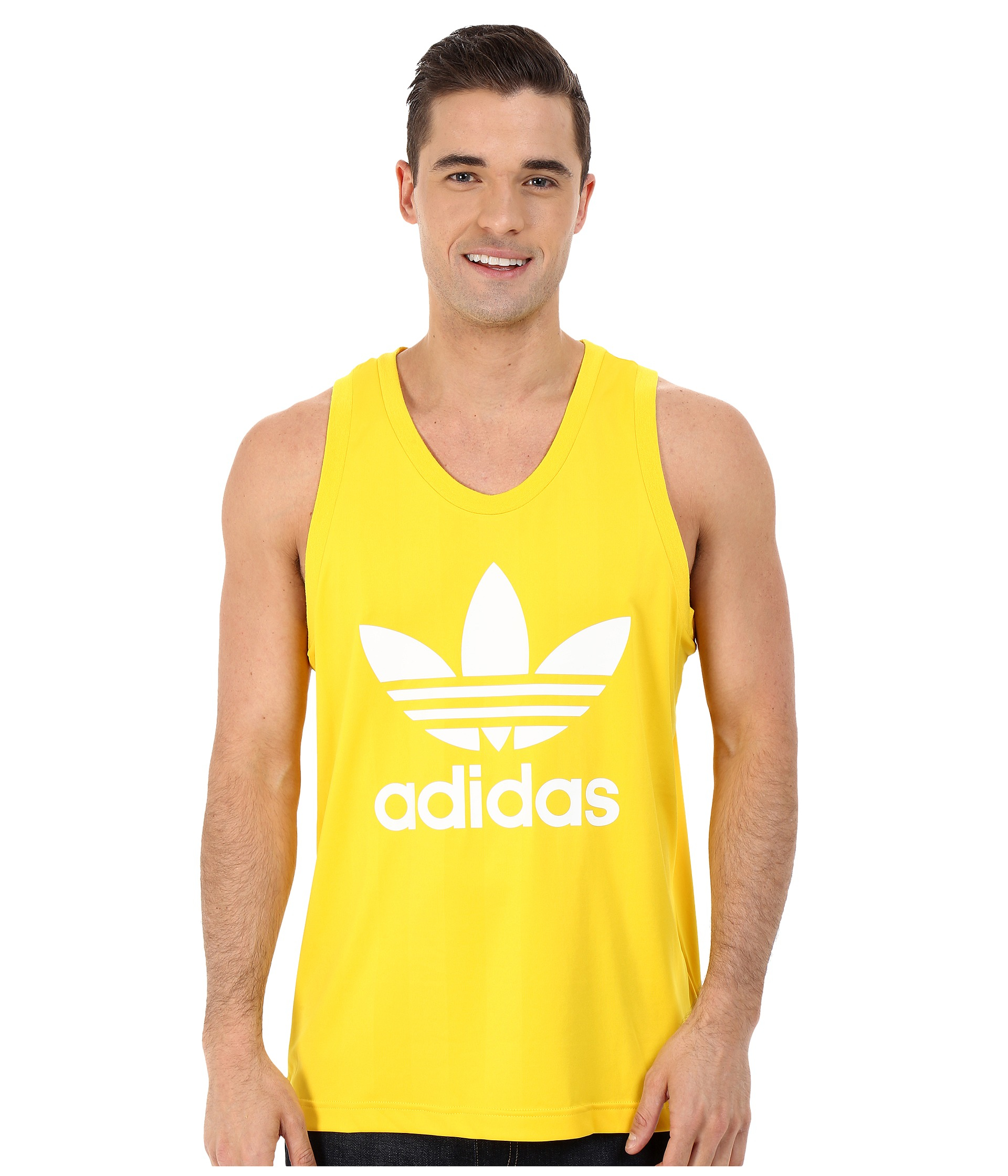 57f561150425d Lyst - adidas Originals Trefoil Tank Top in Yellow for Men