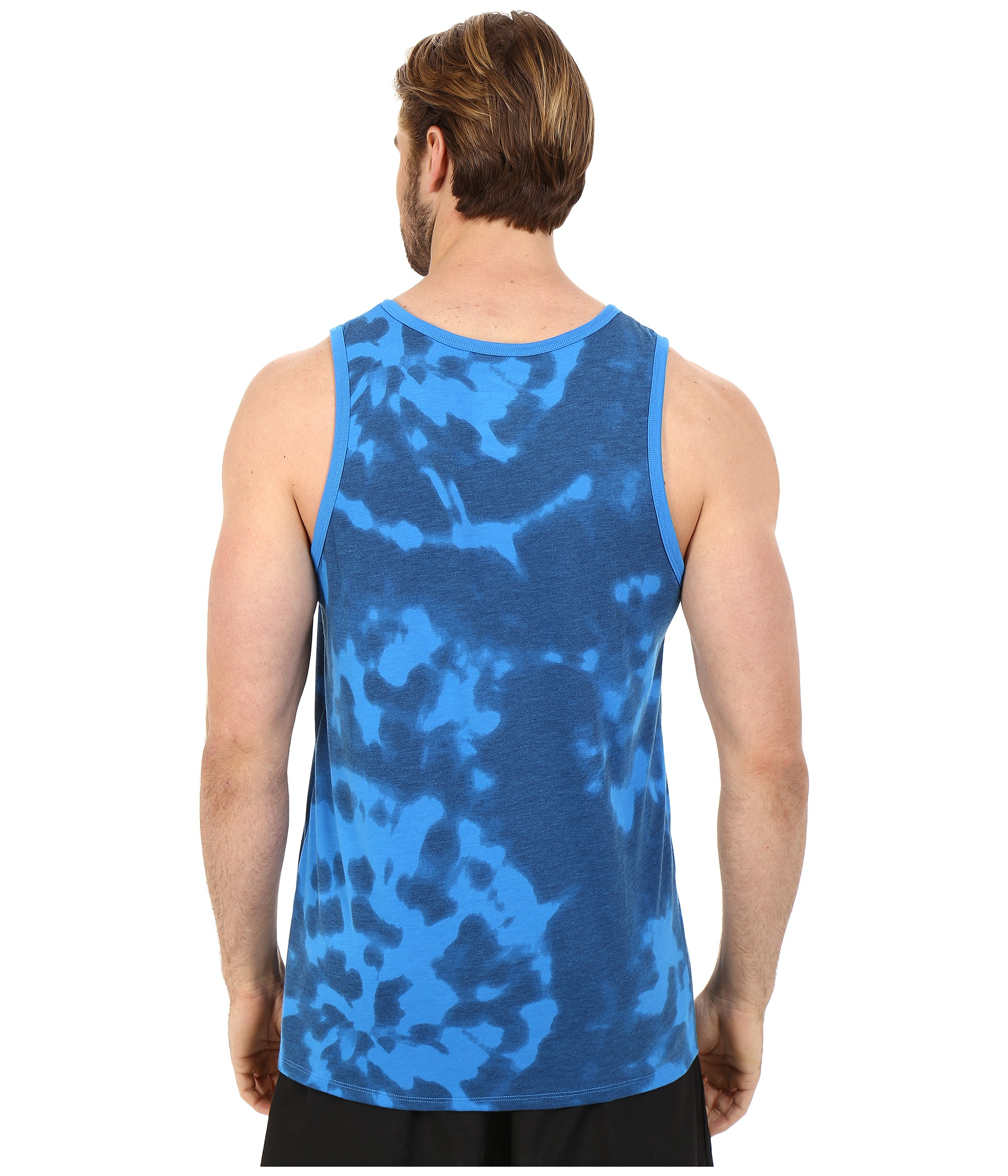 Nike run tie dye tank top in blue for men lyst for Nike tie dye shirt and shorts