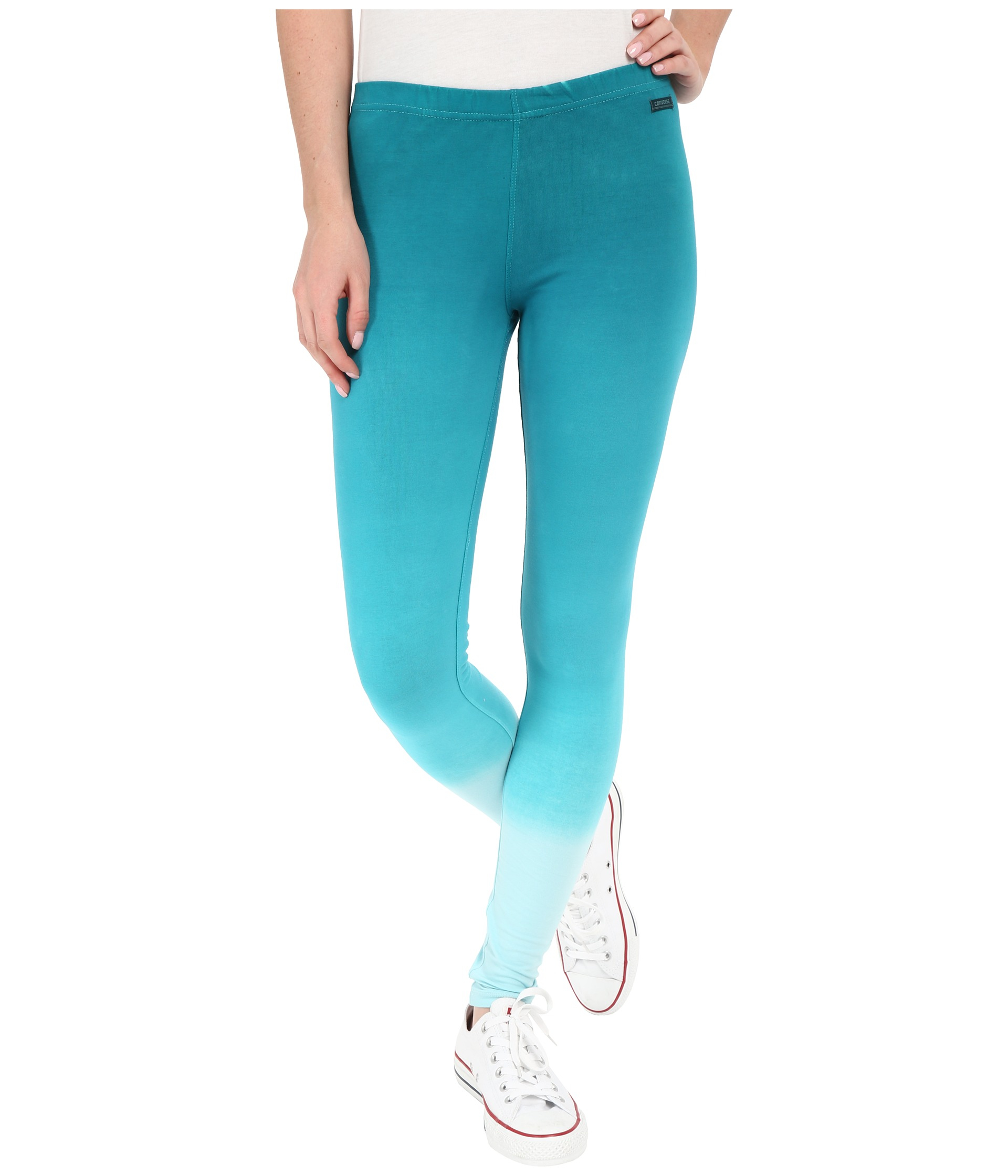ded241aba756 Lyst - Converse Dip Dye Cotton Leggings in Blue