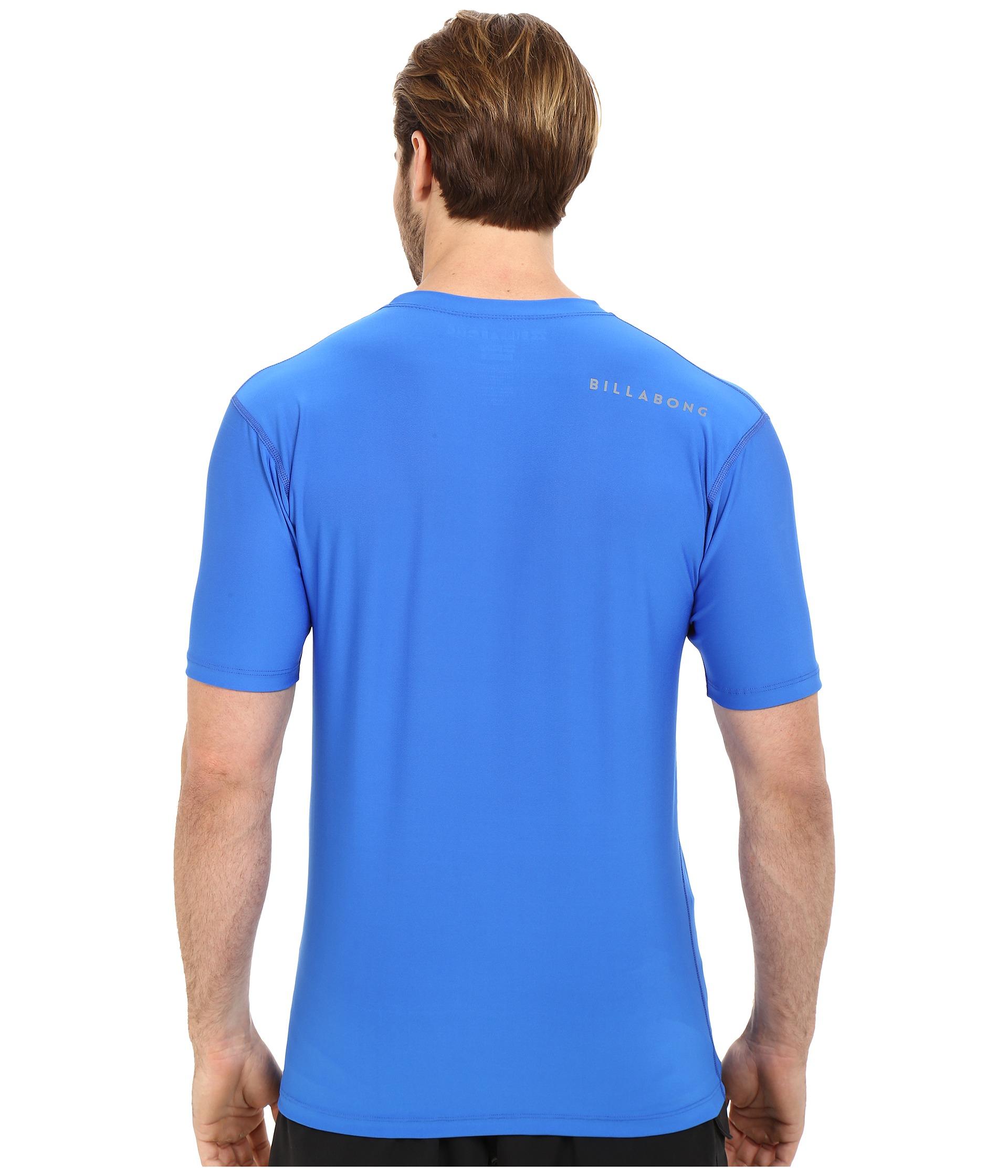 Billabong Chronicle Short Sleeve Rashguard in Blue for Men ...