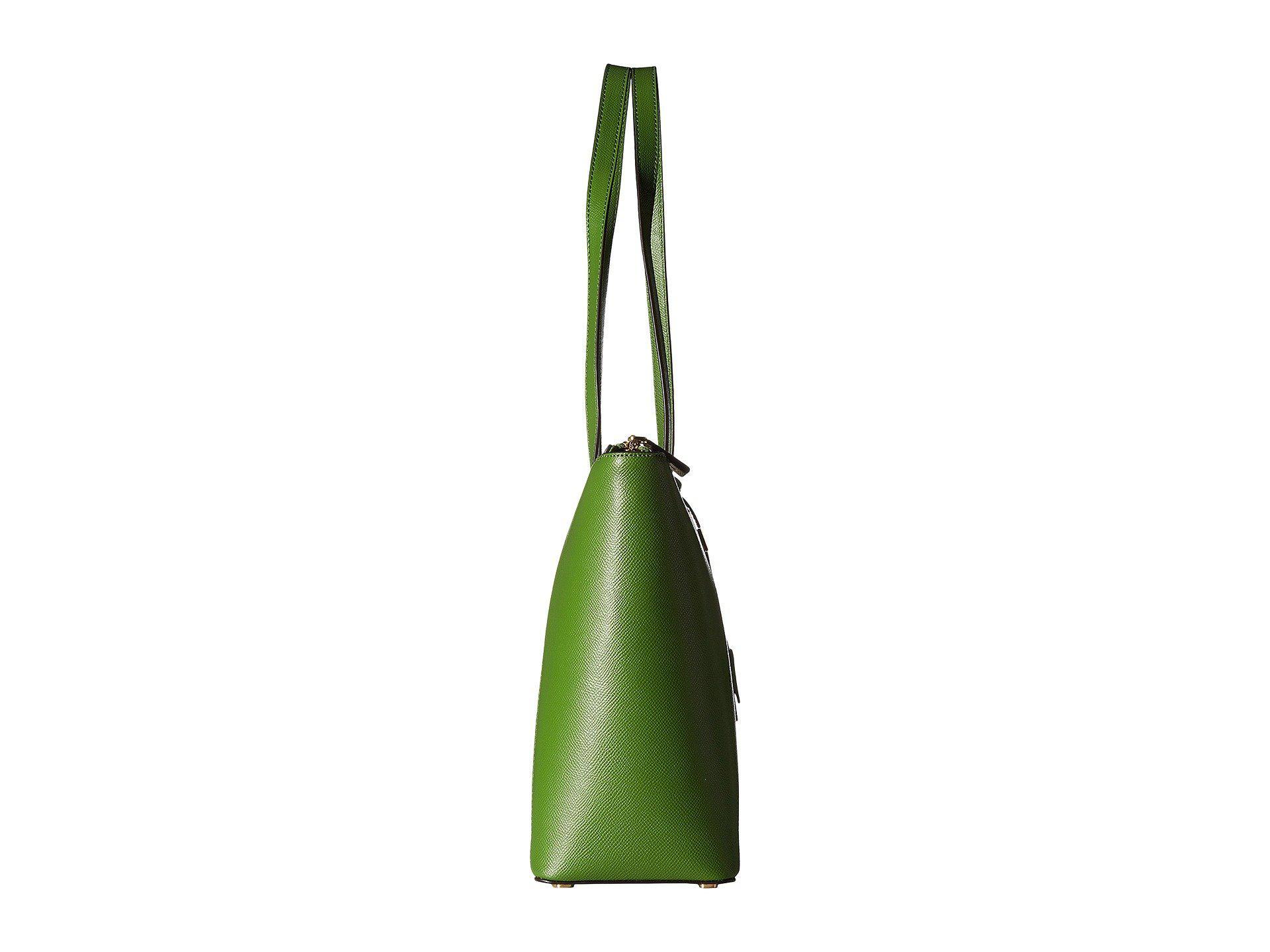Lyst Michael Kors Maddie Medium E W Top Zip Tote In Green Jet Set Travel Antique Rose Bag Tas Wanita Pink Gallery