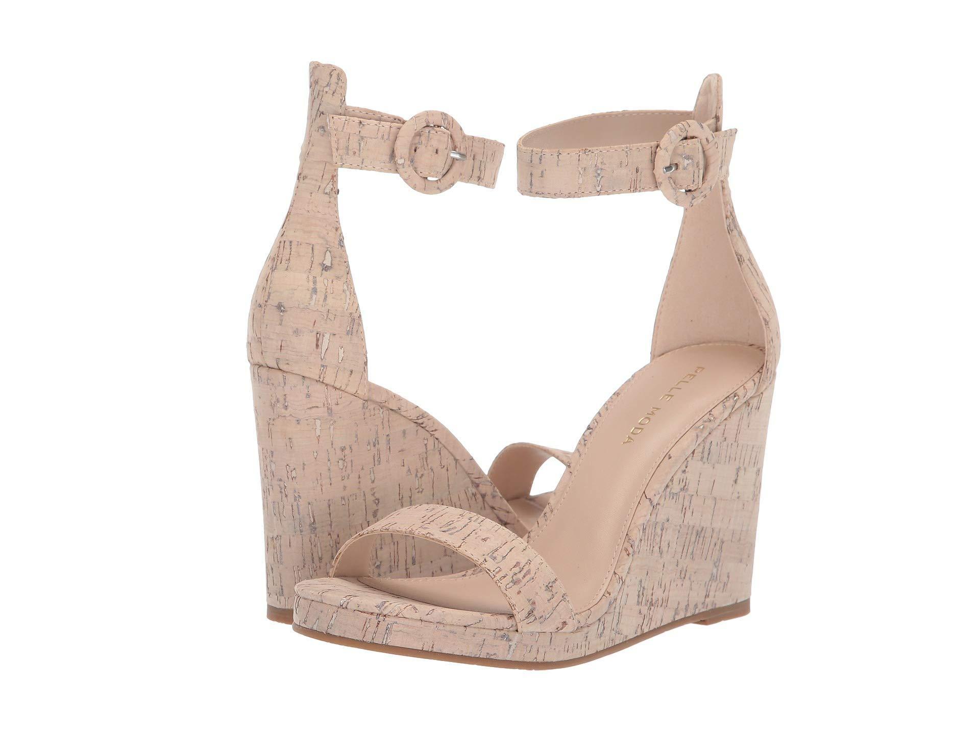 7292e3a920e Lyst - Pelle Moda Nisha (white Wash Cork) Women's Wedge Shoes in White