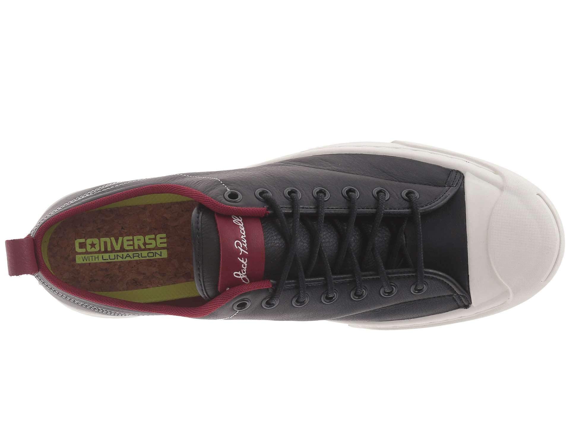 582dd10b63d1 ... france lyst converse jack purcell m series tumbled leather ox in red  for men 4304f 04f60