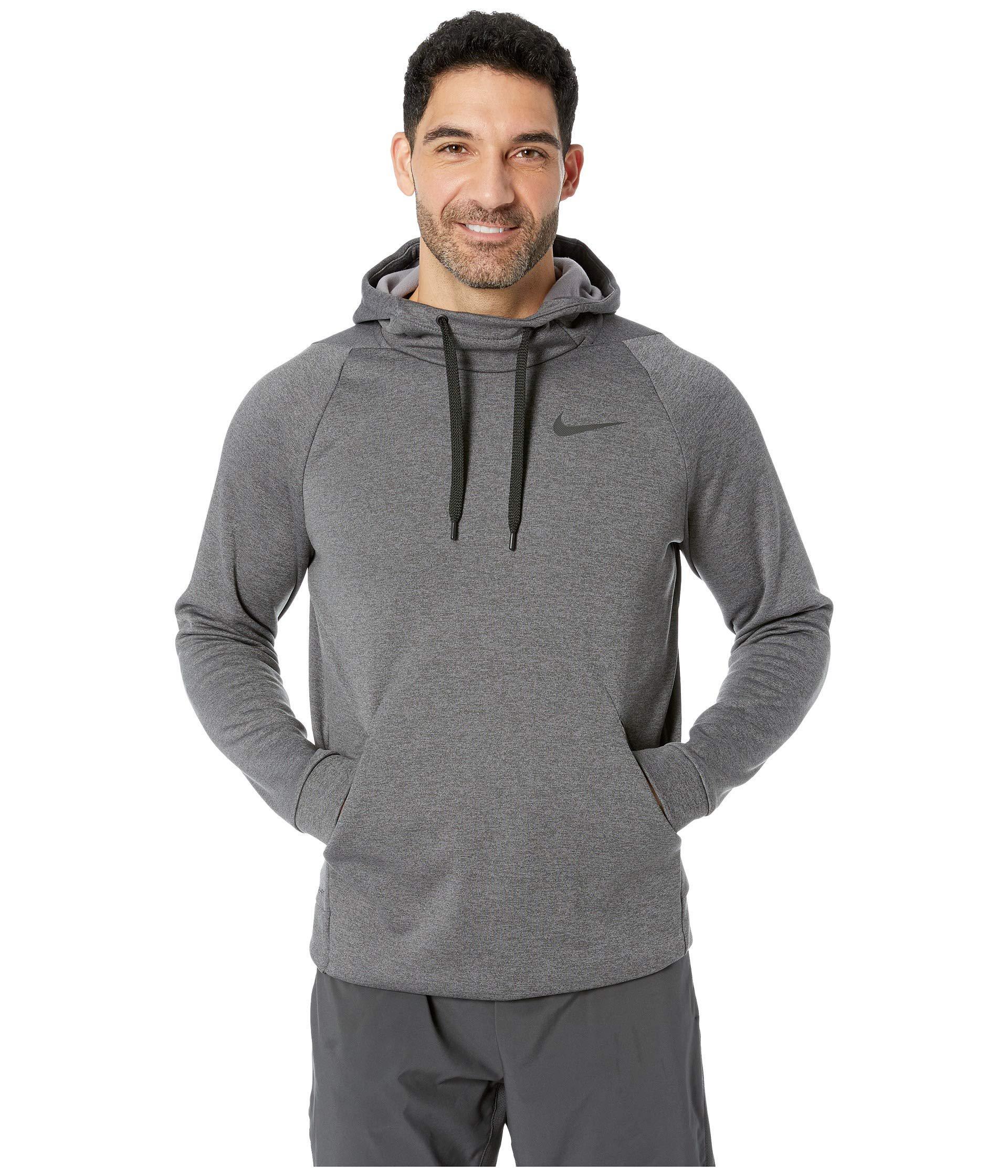 a5c48ab6b517 Nike. Gray Thermal Hoodie Pullover (charcoal Heather black) Men s Sweatshirt