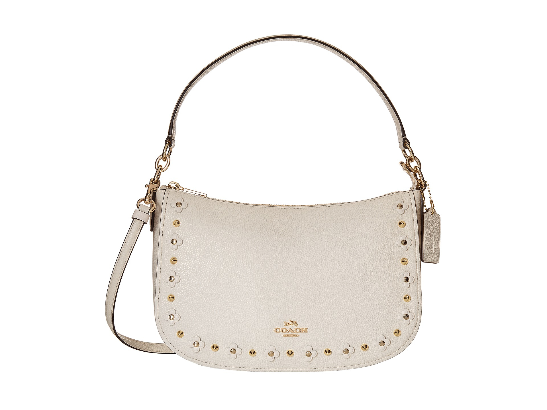 d85e2bea7c sale coach chelsea floral rivets bag 379bb 8e079  coupon for lyst coach  floral rivets detail chelsea in white 58377 80a3d
