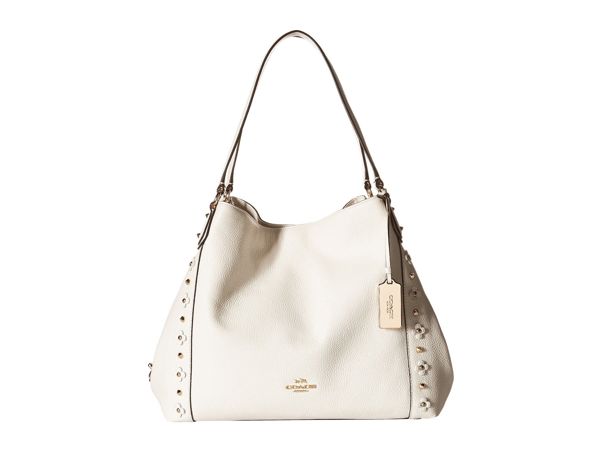 e015df49bbe9 ... print 8d5c6 9e373 inexpensive lyst coach floral rivets detail edie 31  shoulder in white d1e93 6c683 ...