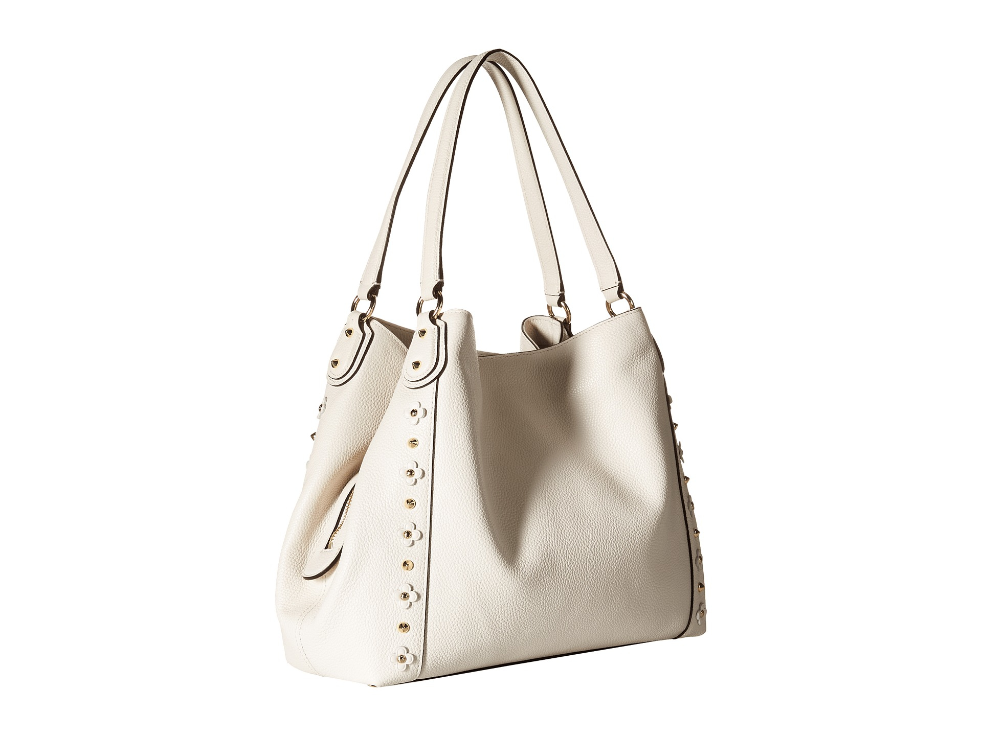 e8c12bb1771c shopping coach edie shoulder bag 31 3752f eb93c  inexpensive lyst coach  floral rivets detail edie 31 shoulder in white 3b5f4 6297f