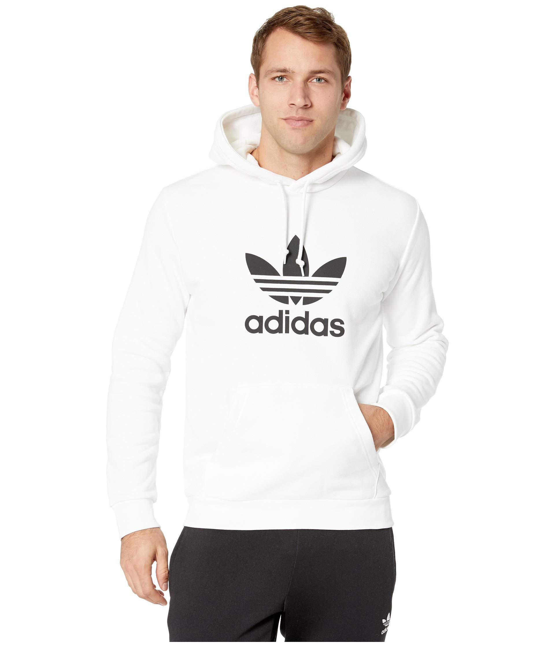 ebd510c82ff8 Lyst - adidas Originals Trefoil Hoodie (medium Grey Heather) Men s ...