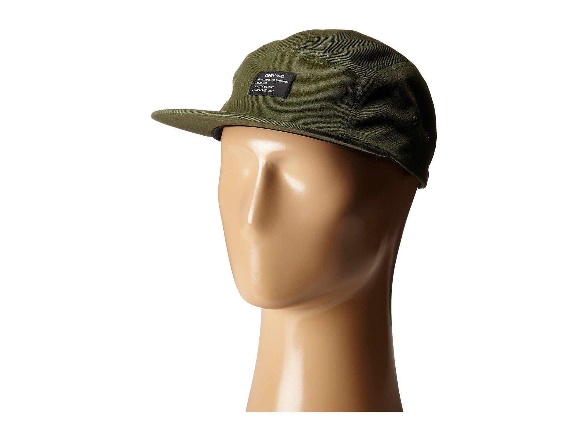 28d70c43d89 Lyst - Obey Platoon 5 Panel Cap in Green for Men