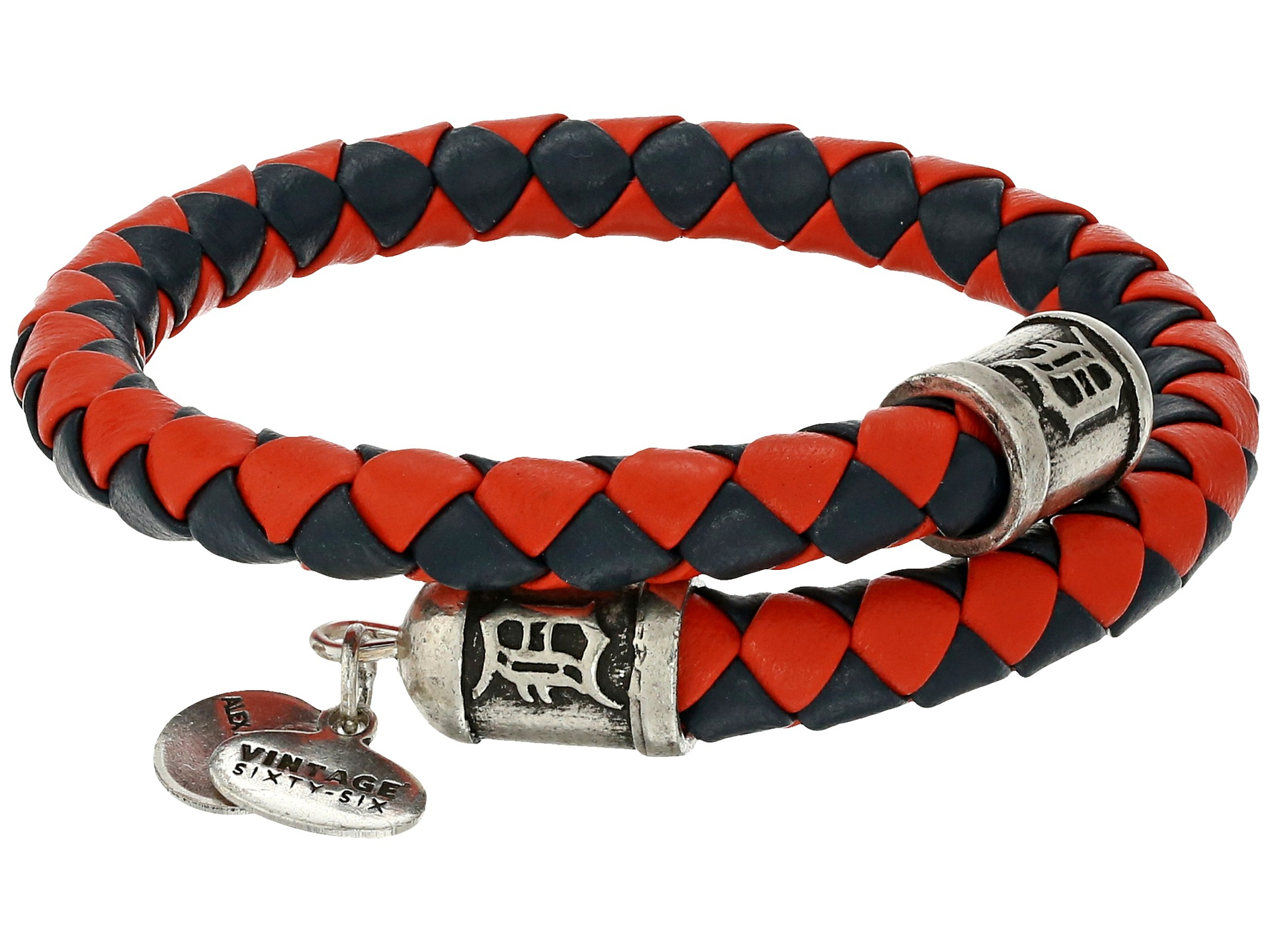 alex and ani mlb detroit tigers braided leather wrap