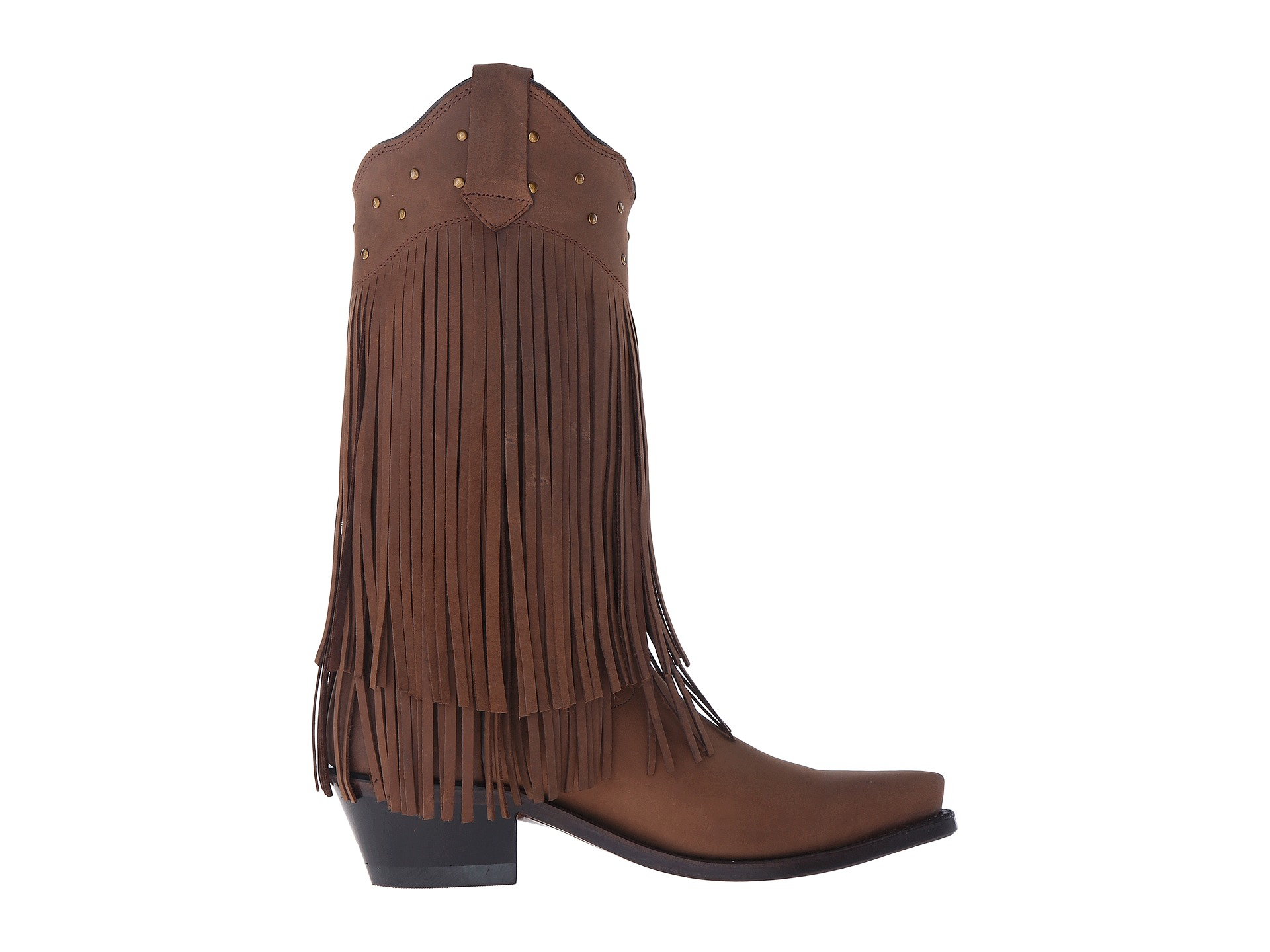 west boots fringe boot in brown lyst