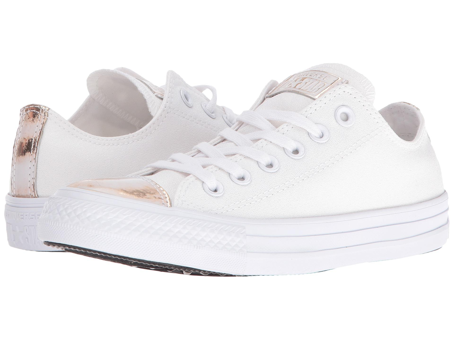 615d6777b9ee Lyst - Converse Chuck Taylor® All Star® Brush-off Leather Toecap Lo ...