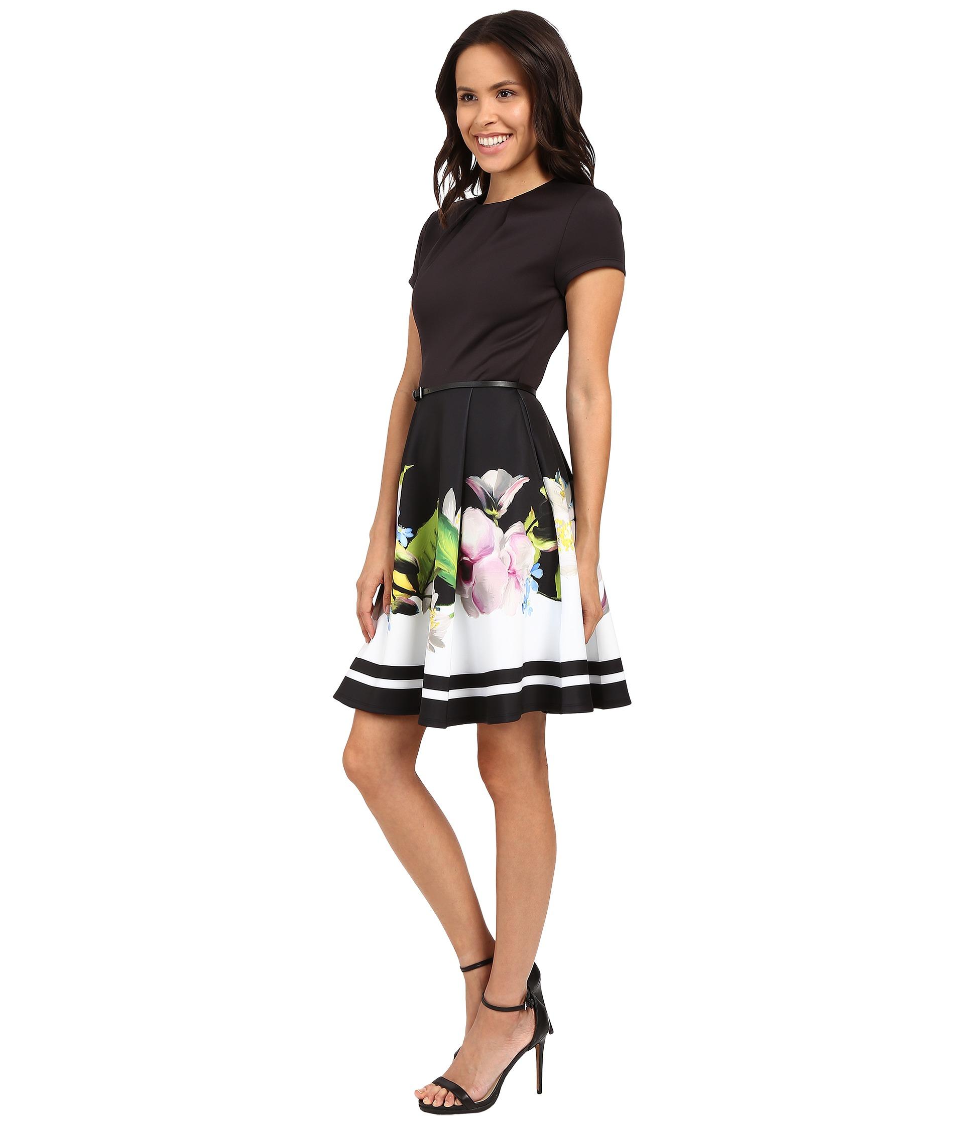 c8ec6040d43fd Lyst - Ted Baker Vidaa Bow Detail Neoprene Dress in Black