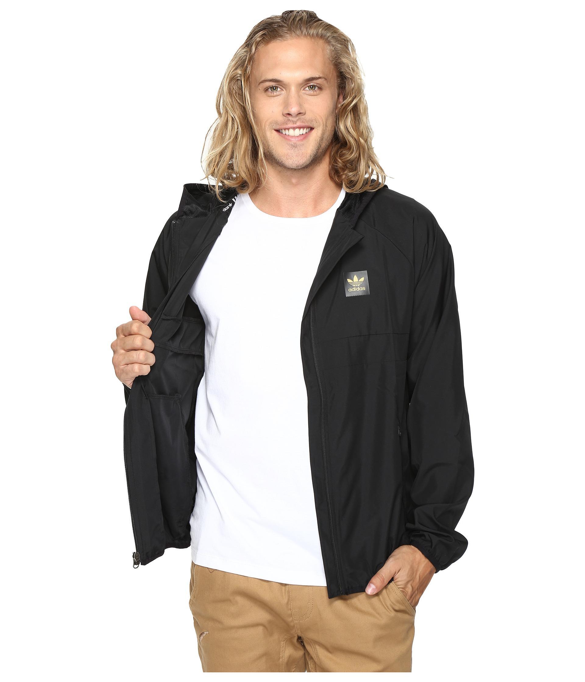 82ea1ce507e7 Lyst - adidas Originals Blackbird Packable Wind Jacket in Metallic ...