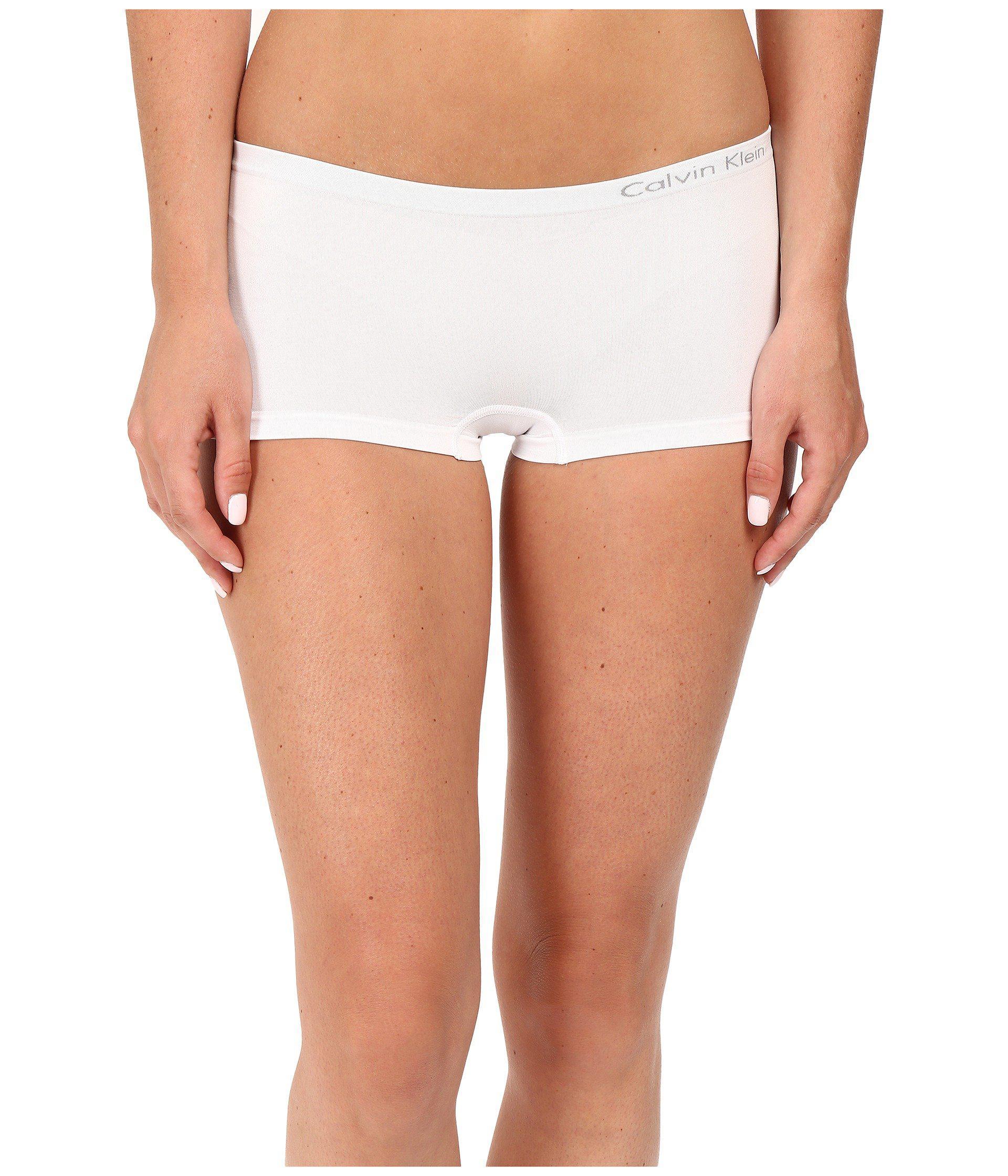 fdd106b46b00 Calvin Klein Pure Seamless 3-pack Boyshorts (bare/black/white ...