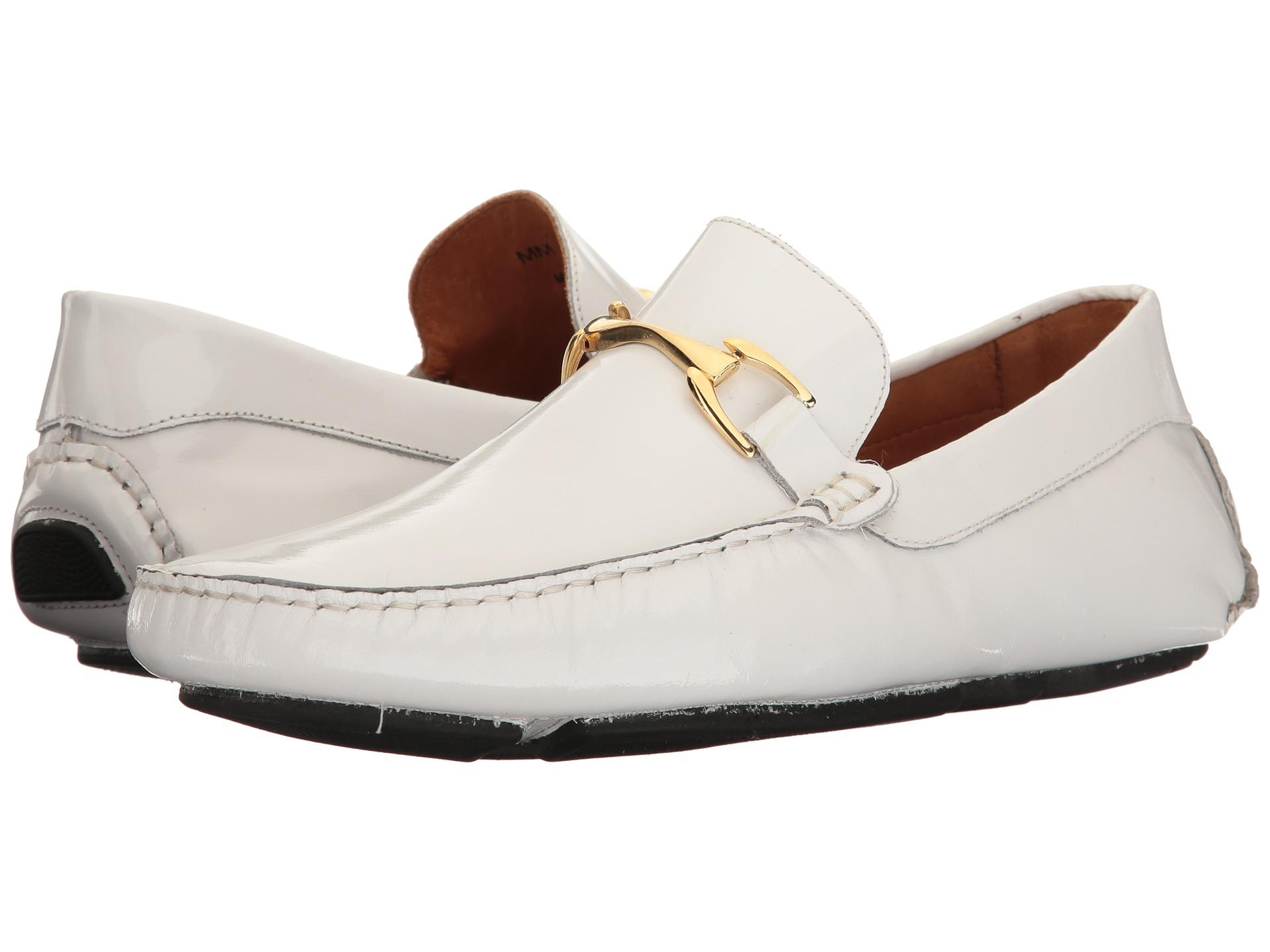 Massimo matteo Patent Bit Driver in White for Men