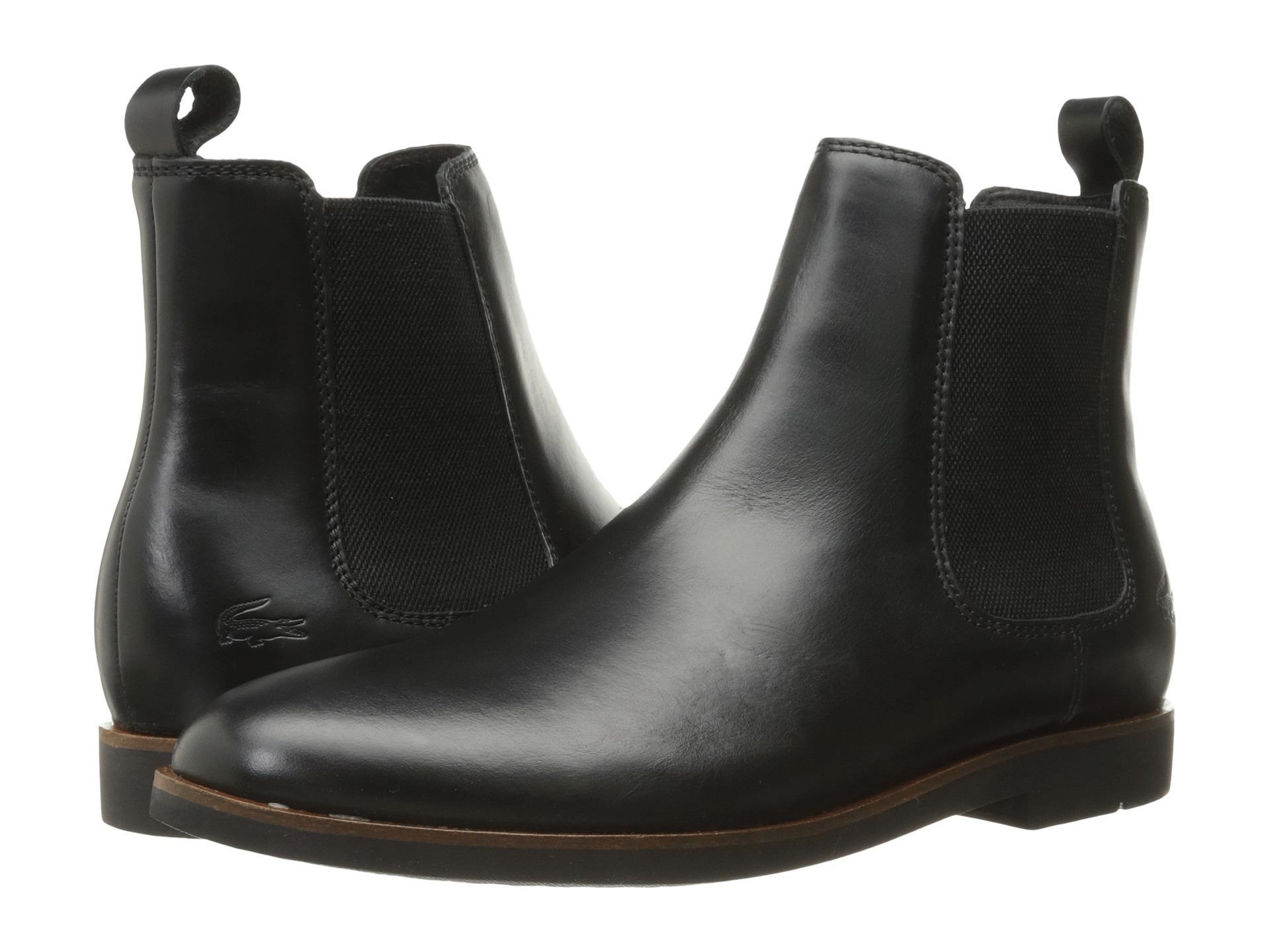 e6ee89958edb13 Lyst - Lacoste Crosley 316 1 Cam Chelsea Boot in Black for Men