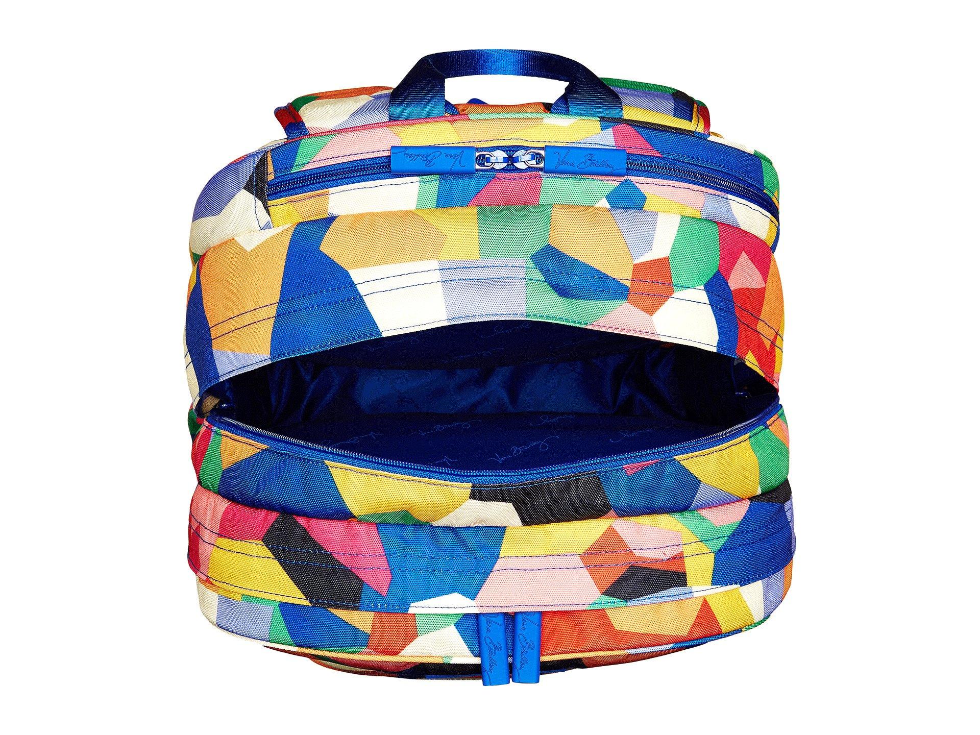 fe0b58959 Vera Bradley Lighten Up Grande Laptop Backpack in Blue - Lyst