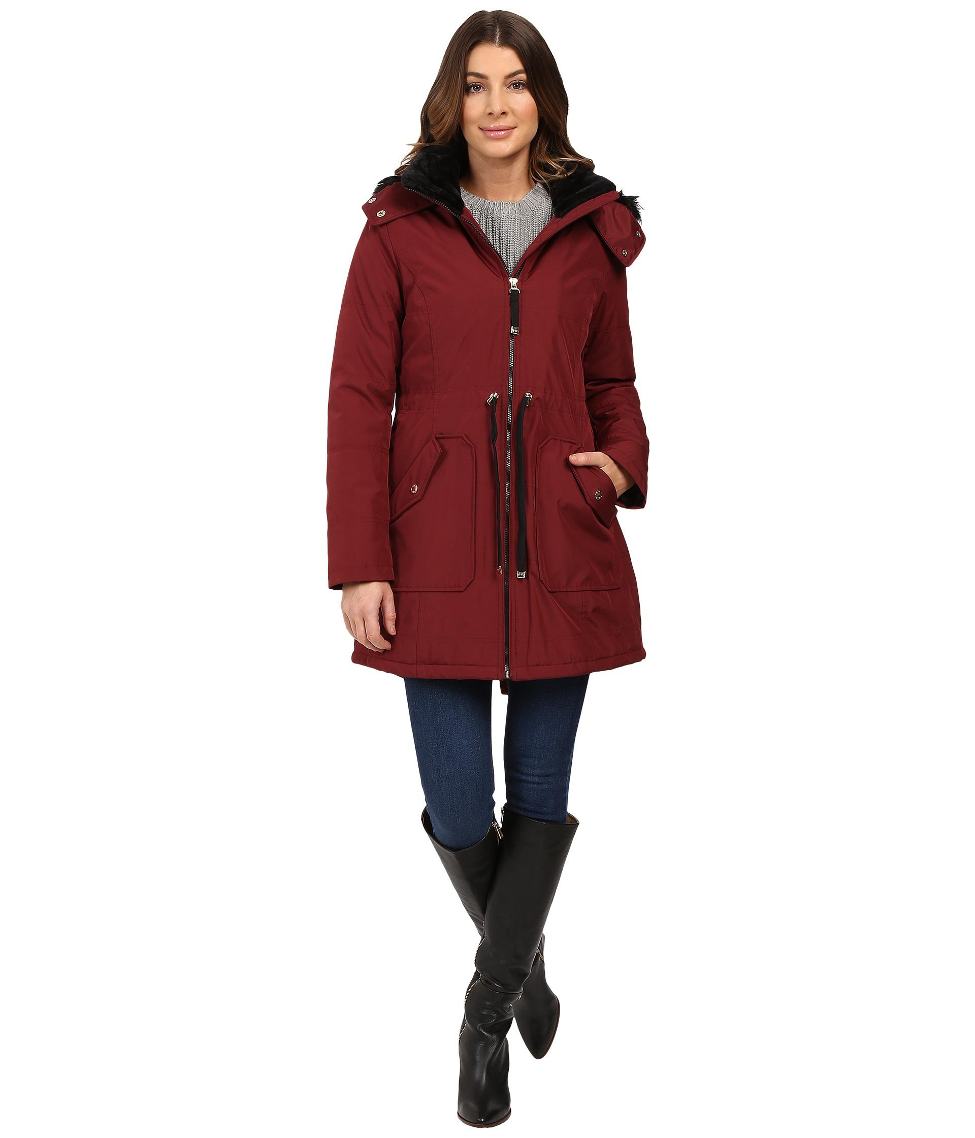Lyst Jessica Simpson Quilted Fill Puffer W Drawstrings