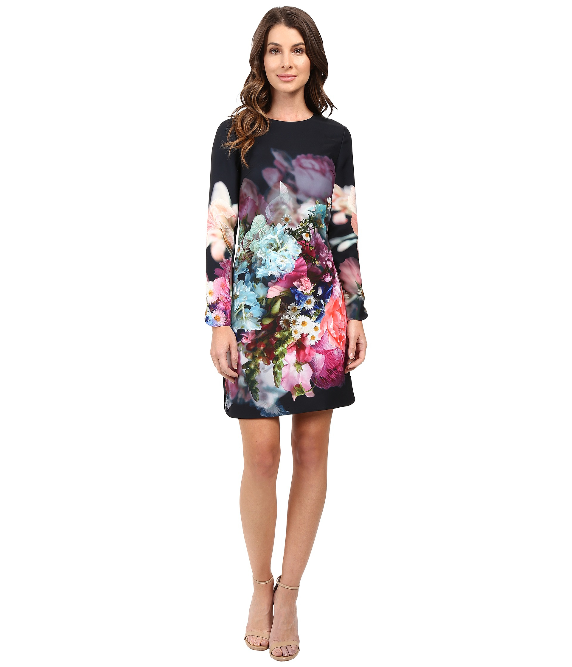 ffaa4fc48 Lyst - Ted Baker Vyr Tunic Dress In Focus Bouquet Print in Blue