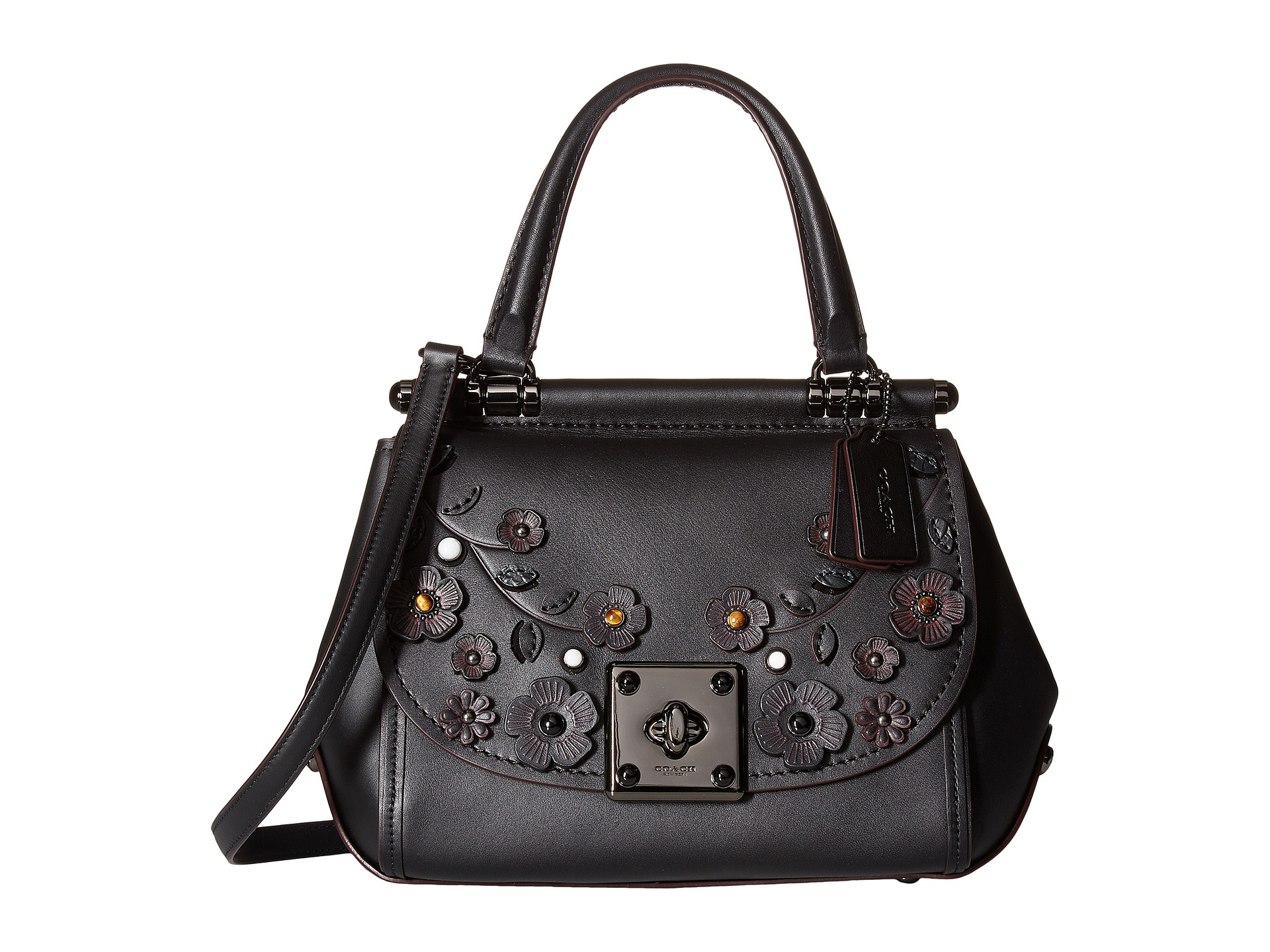 Coach Drifter Top Handle Satchel With Willow Floral
