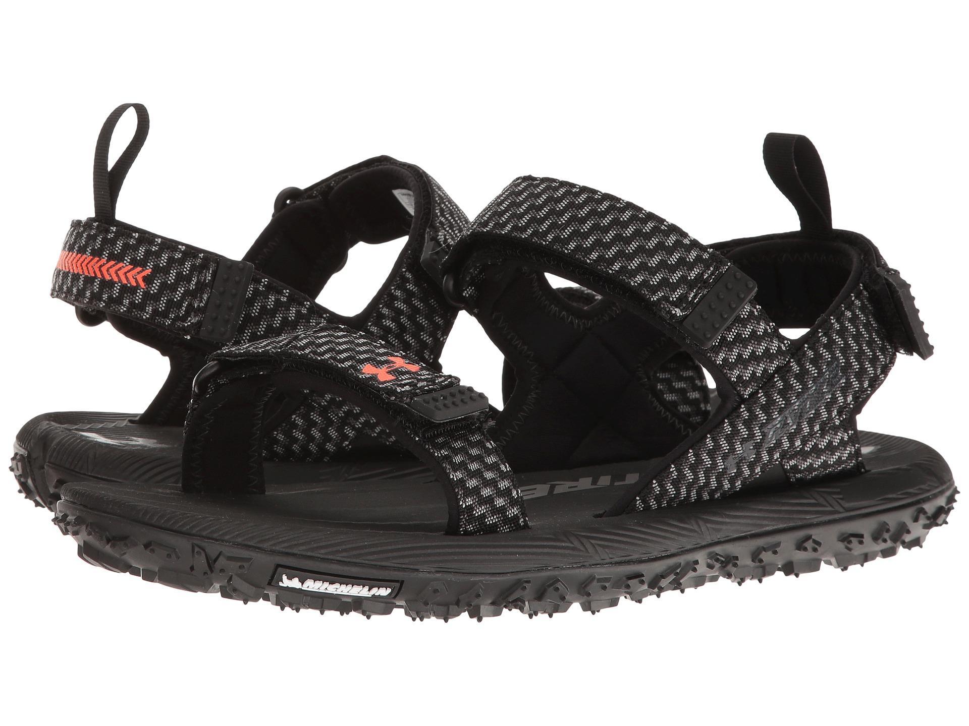 Lyst Under Armour Ua Fat Tire Sandal In Black For Men