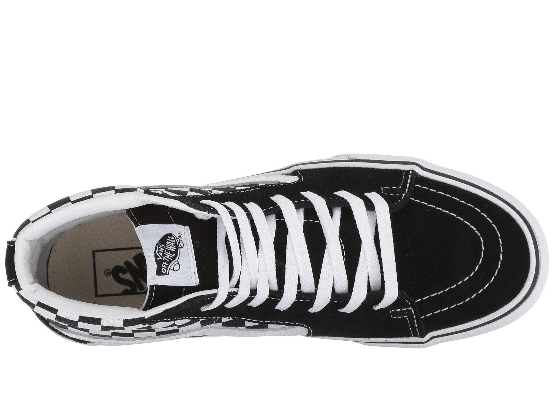 fd3f4de7c49a Vans - Multicolor Sk8-hi Platform 2.0 (checkerboard true White) Skate Shoes.  View fullscreen