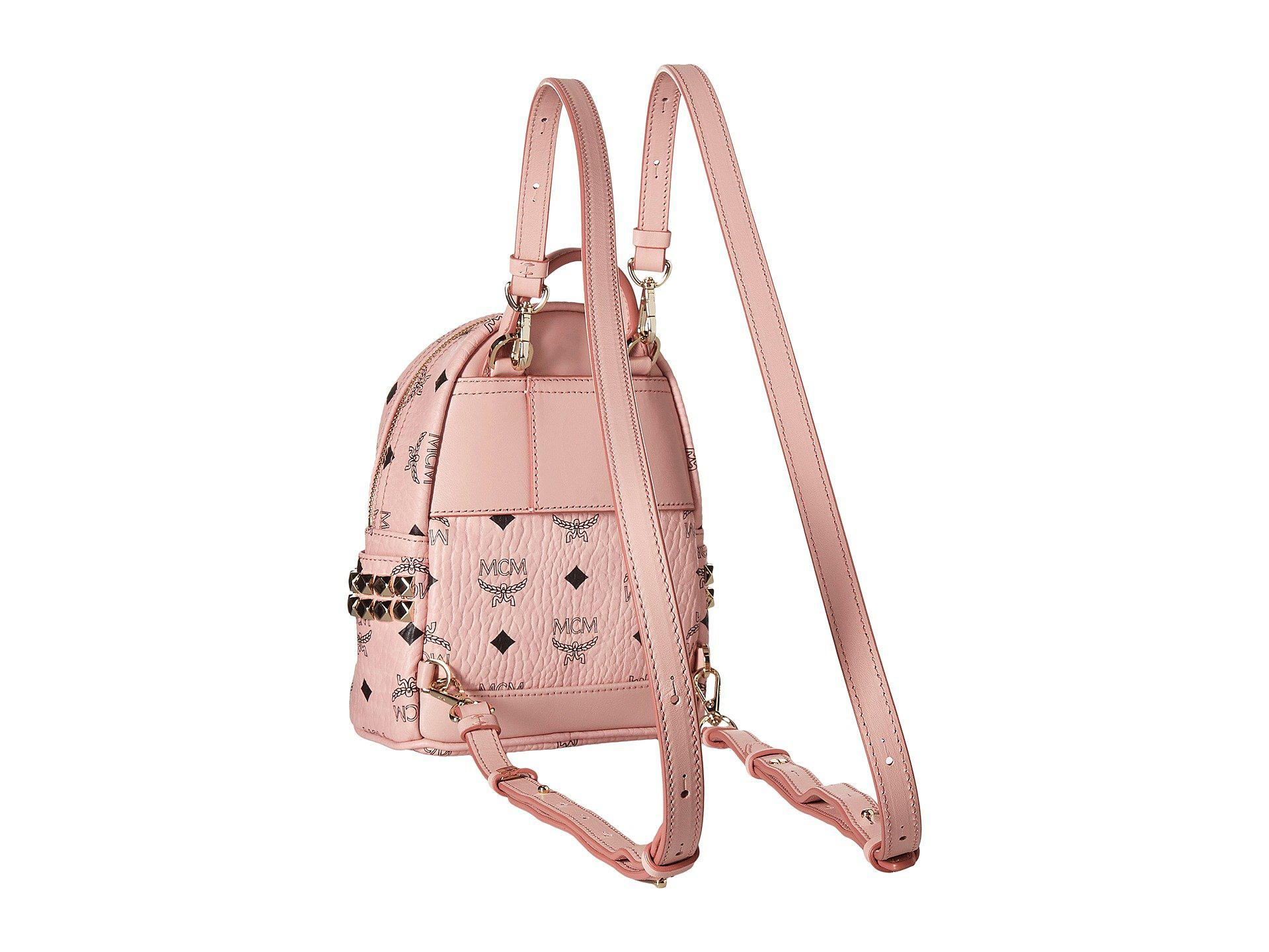 MCM - Stark X Mini Backpack (soft Pink) Backpack Bags - Lyst. View  fullscreen c5f48232e5b1b