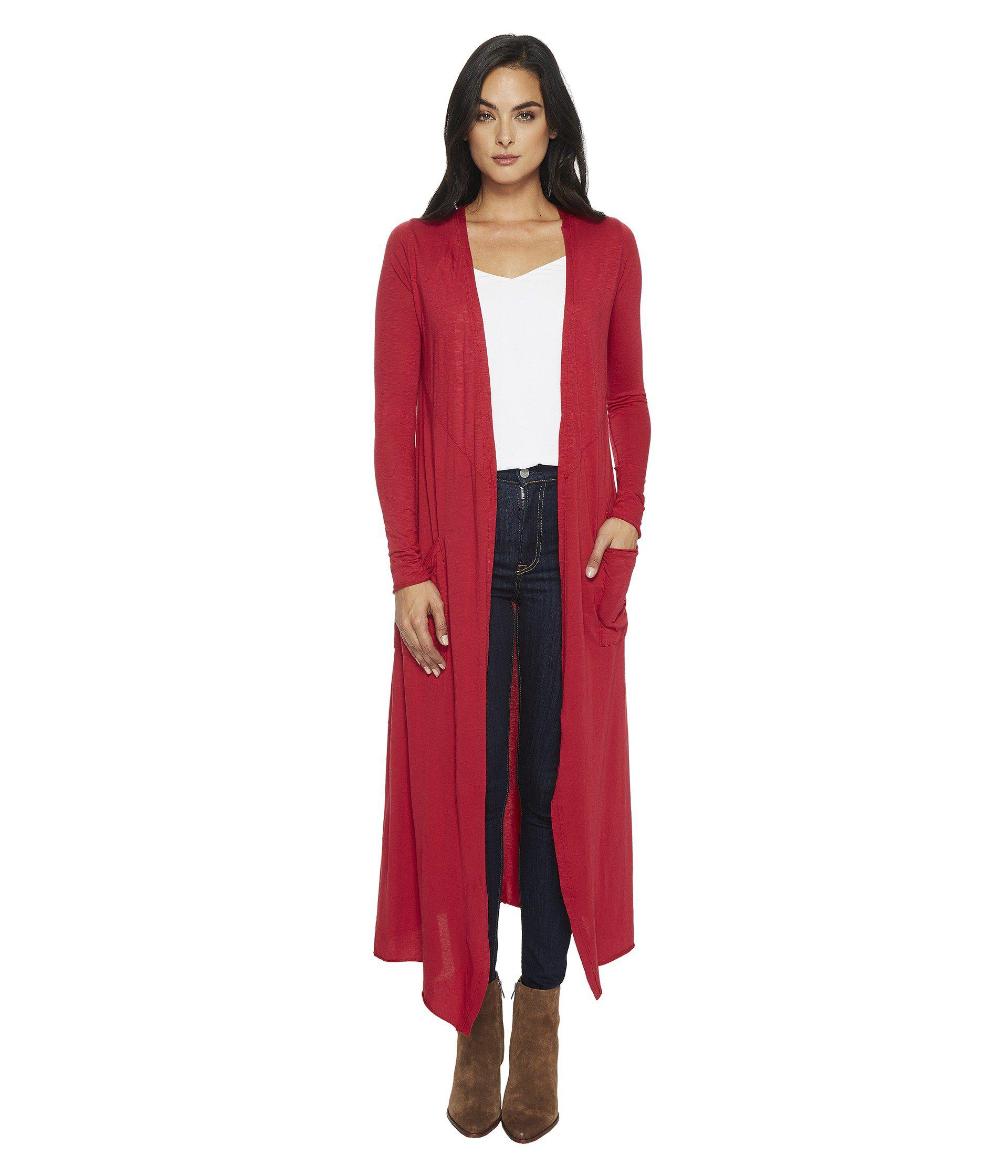 Lamade Reed Duster Cardigan in Red | Lyst