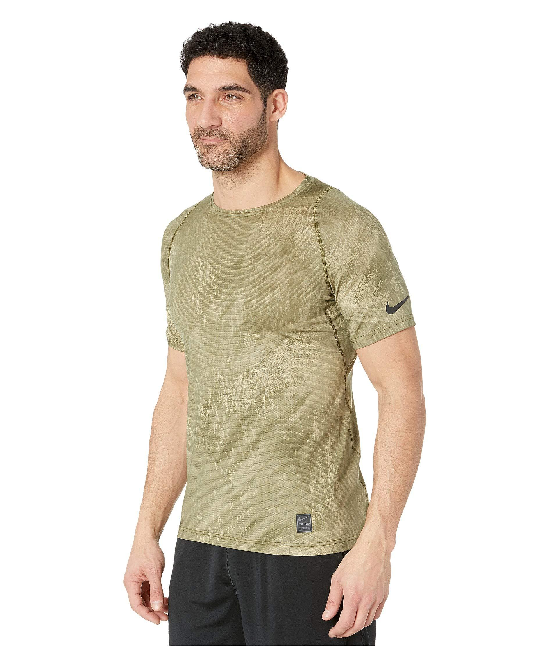 c42bfb9fe99f Lyst - Nike Top Short Sleeve Fitted Special Forces Realtree in Green for Men