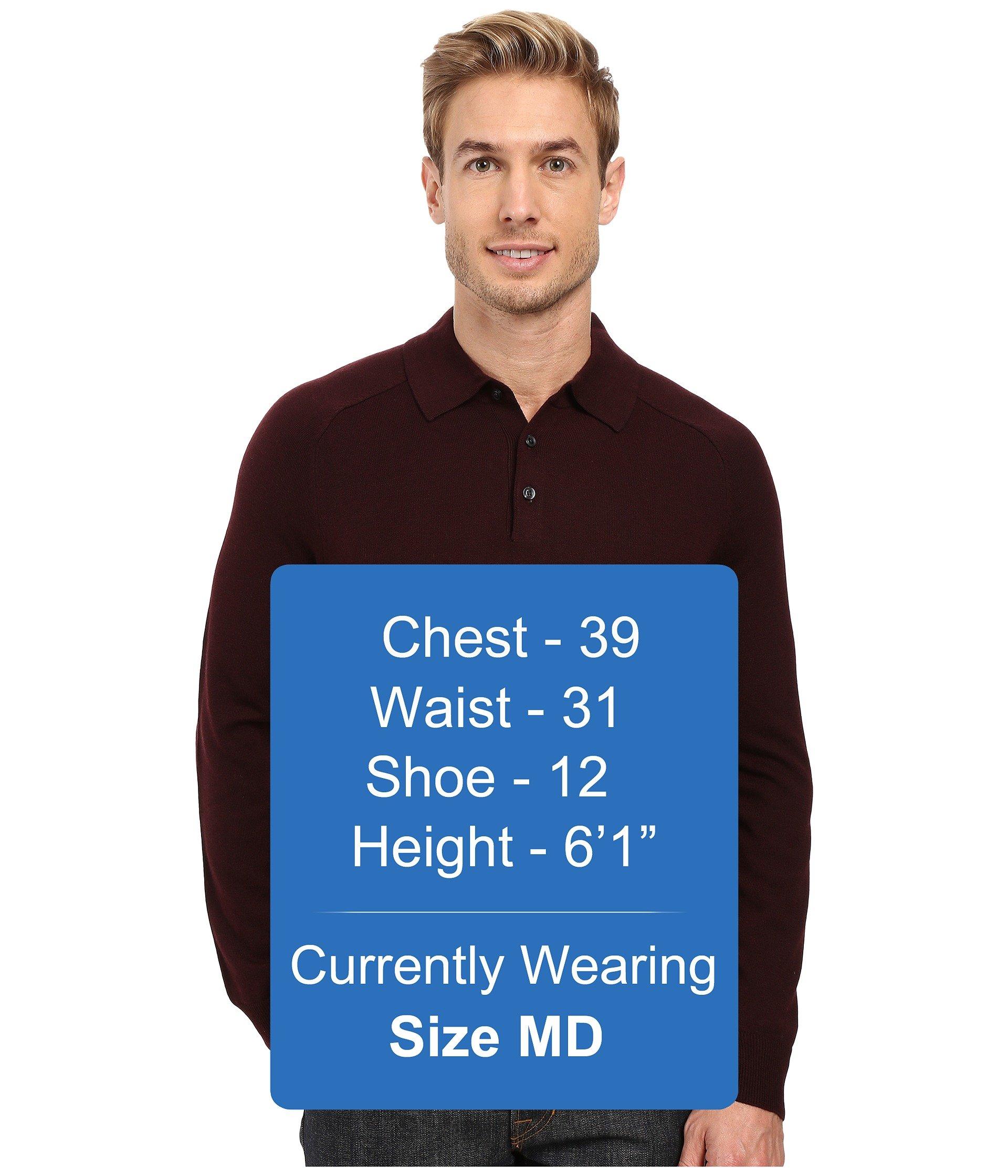 cfa5d84f2b Lyst - Perry Ellis Merino Three-button Long Sleeve Polo for Men