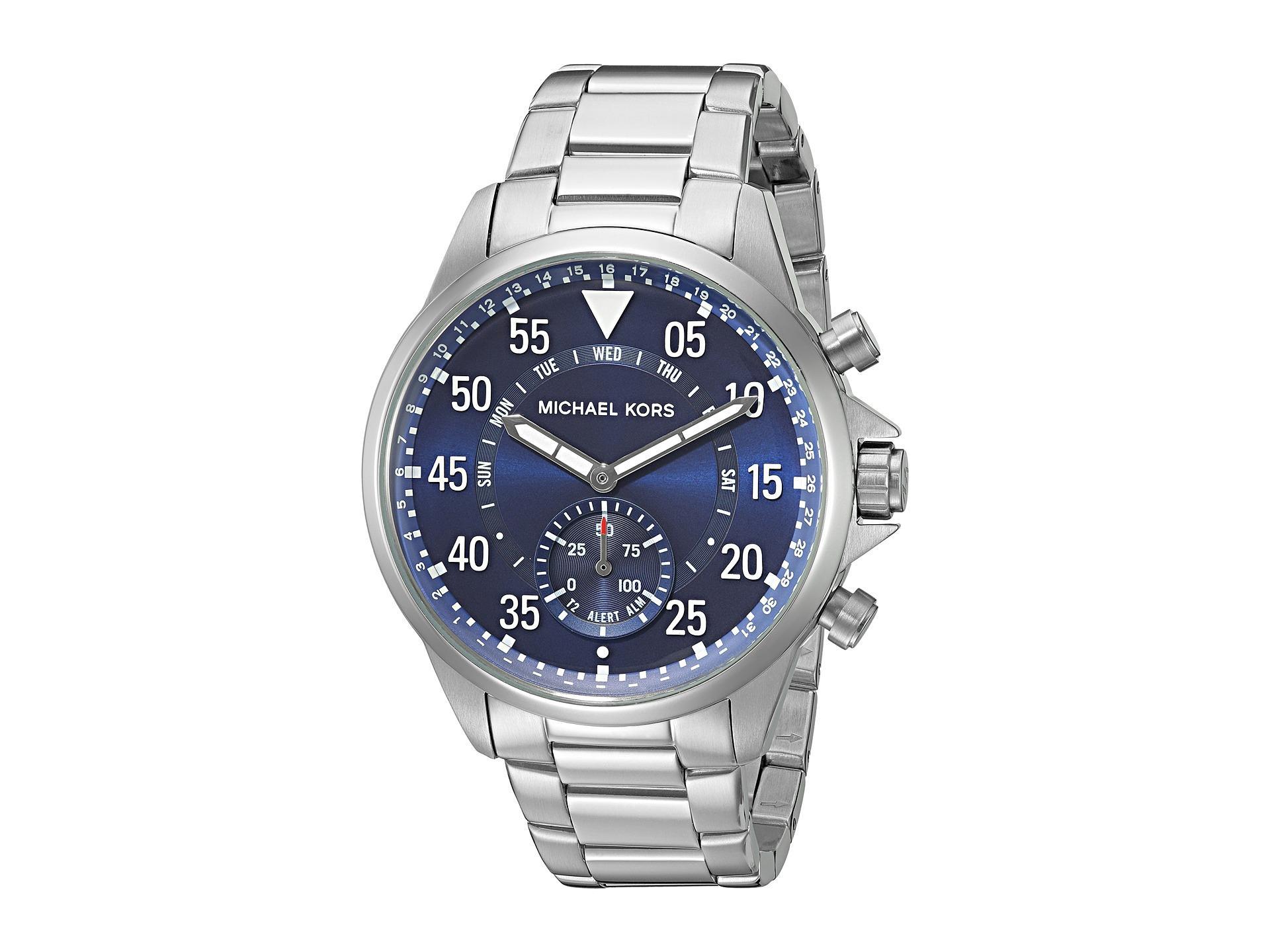 e97f9c390ebd Lyst - Michael Kors Gage Hybrid Smartwatch - Mkt4000 in Metallic for Men