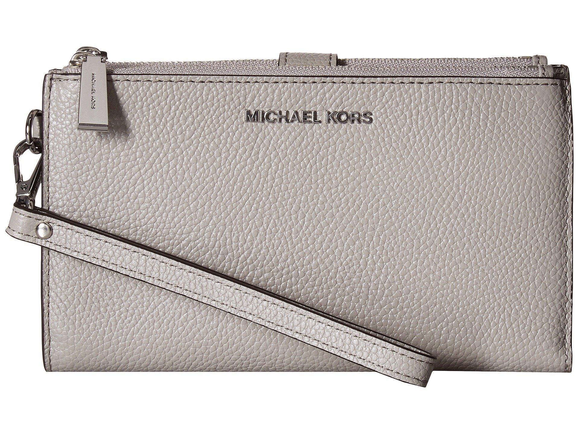 c512f473ace6 MICHAEL Michael Kors. Women s Gray Double Zip Wristlet (brown acorn) Wristlet  Handbags