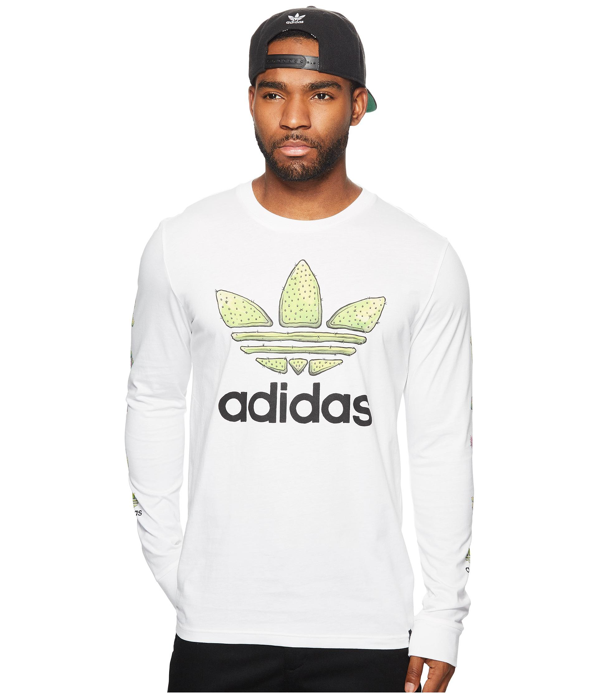 c08e5e60887e adidas Originals Cactus Long Sleeve Tee in White for Men - Lyst