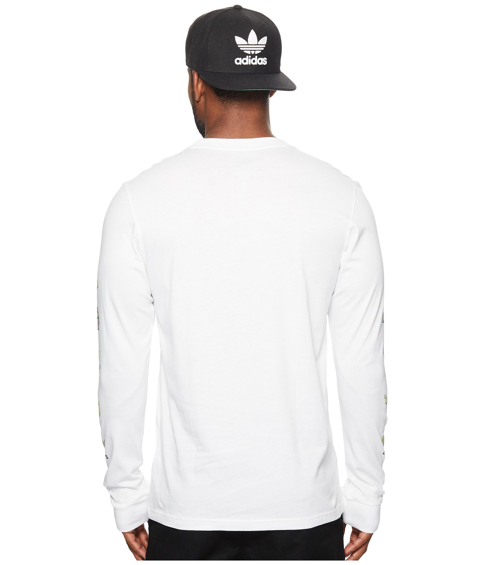 f0d35c687742 Adidas Originals Mens Cactus Long Sleeve T Shirt White | Saddha