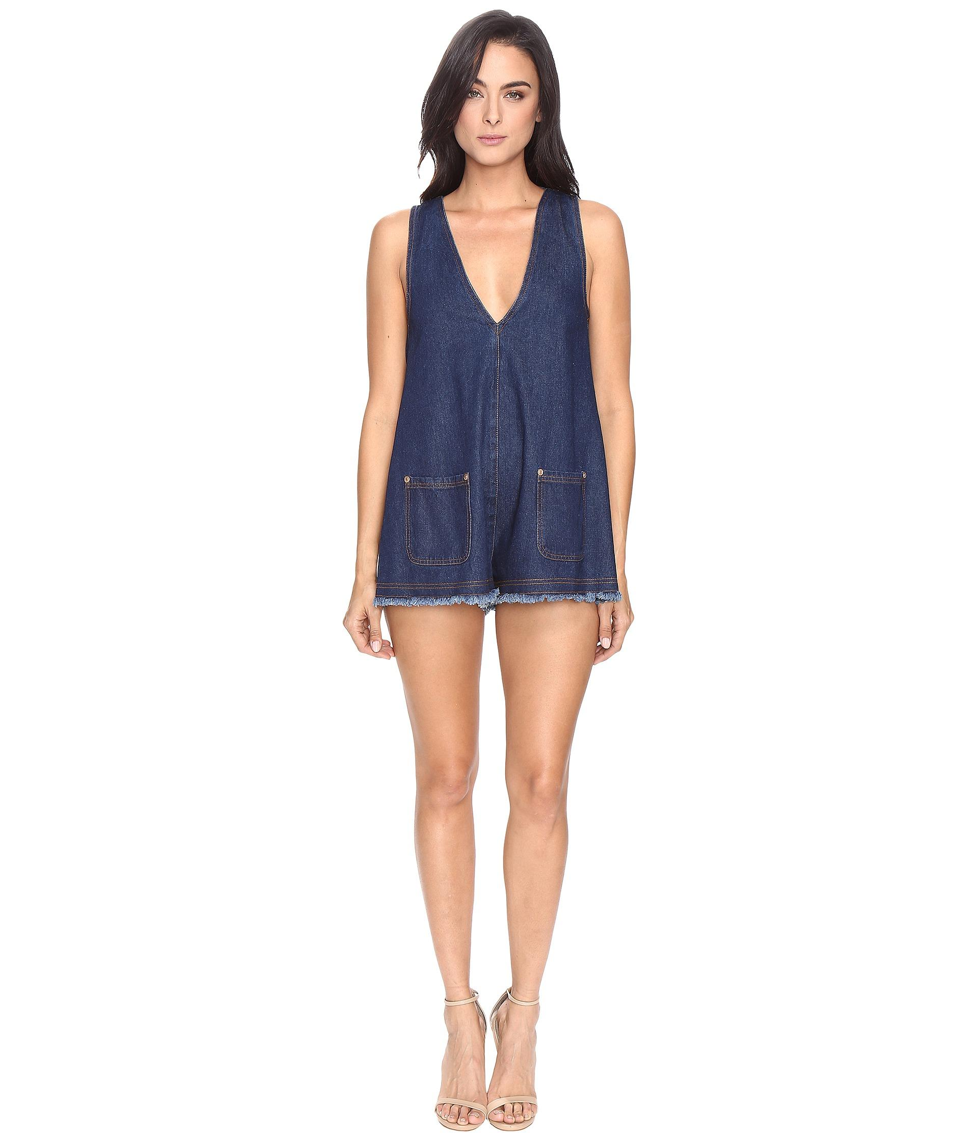0ad1b7c6368d Lyst - Alice McCALL S.o.s Playsuit in Blue