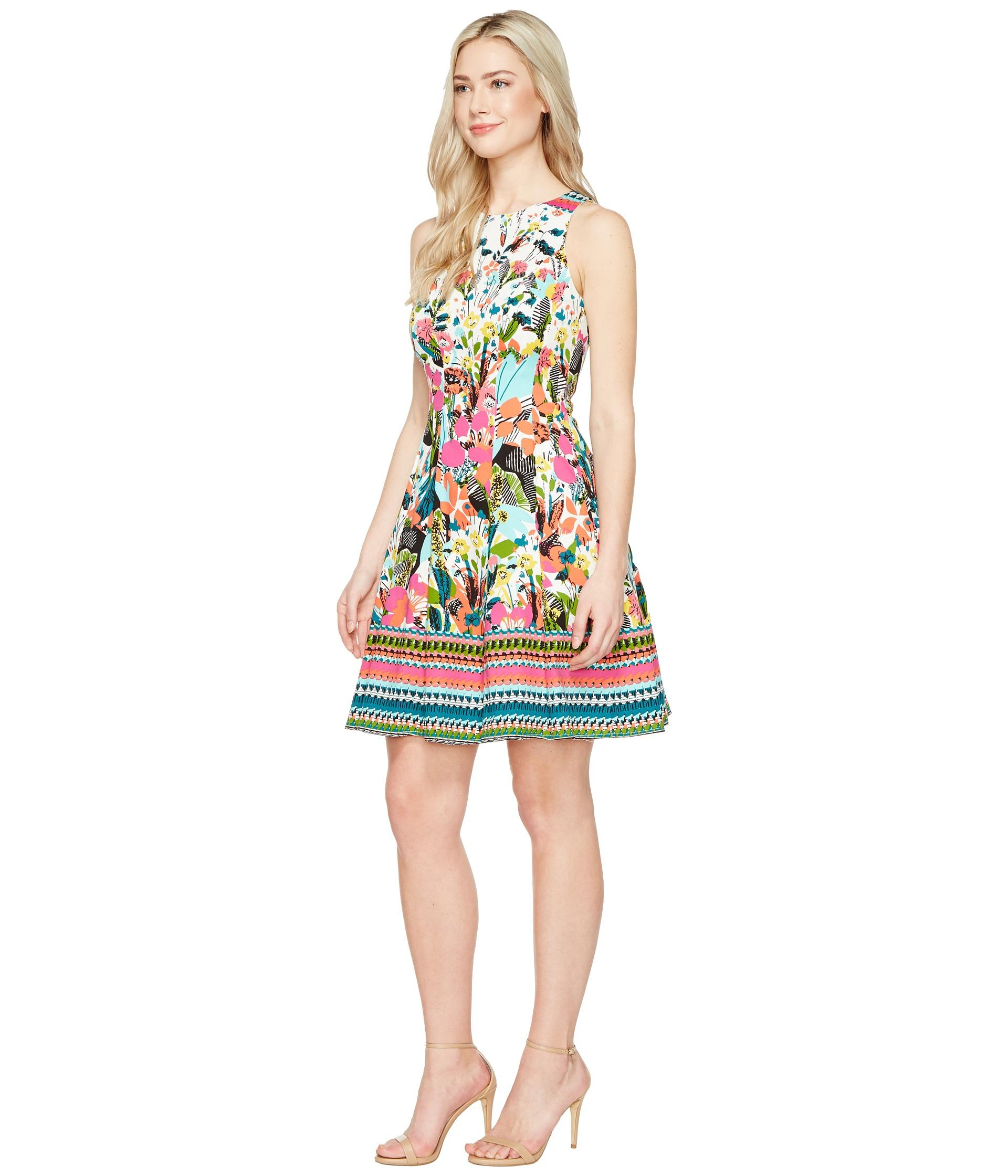 013907a522355 Lyst - Maggy London Fiesta Flower Fit   Flare Dress