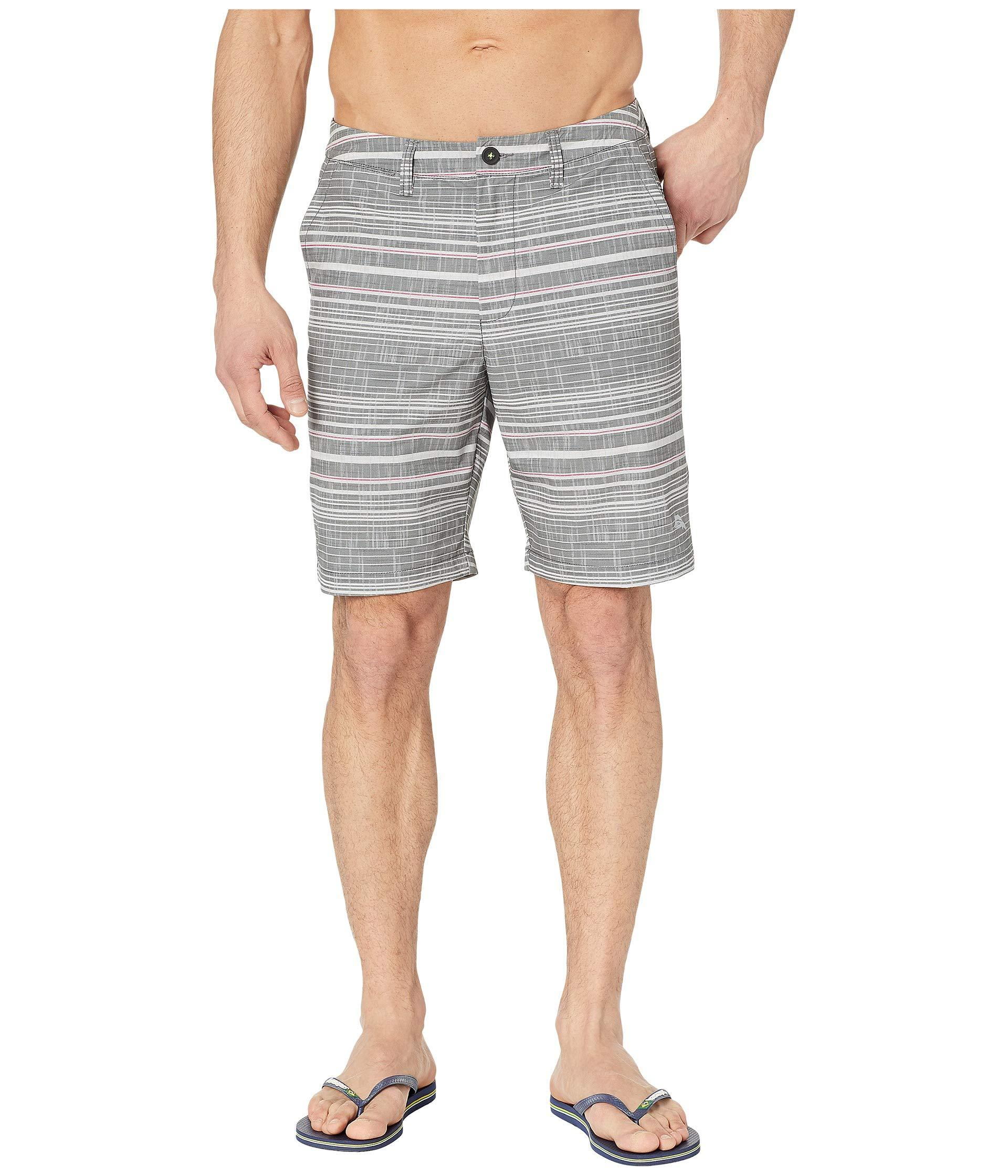 863c57054fa5d0 Lyst - Tommy Bahama Cayman Sarzana Stripe Swim Trunk (black) Men's ...