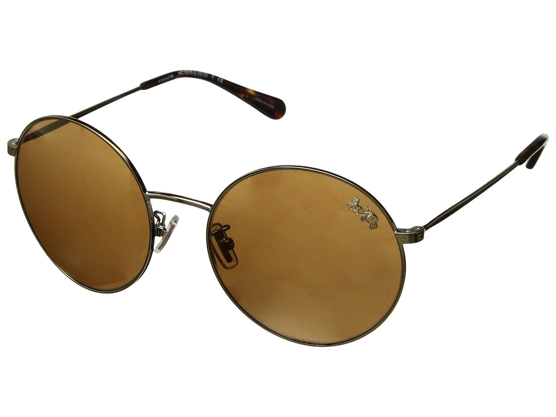 b588d2034d0e6 Lyst - COACH 0hc7078 56mm (shiny Light Gold gold Mirror) Fashion ...