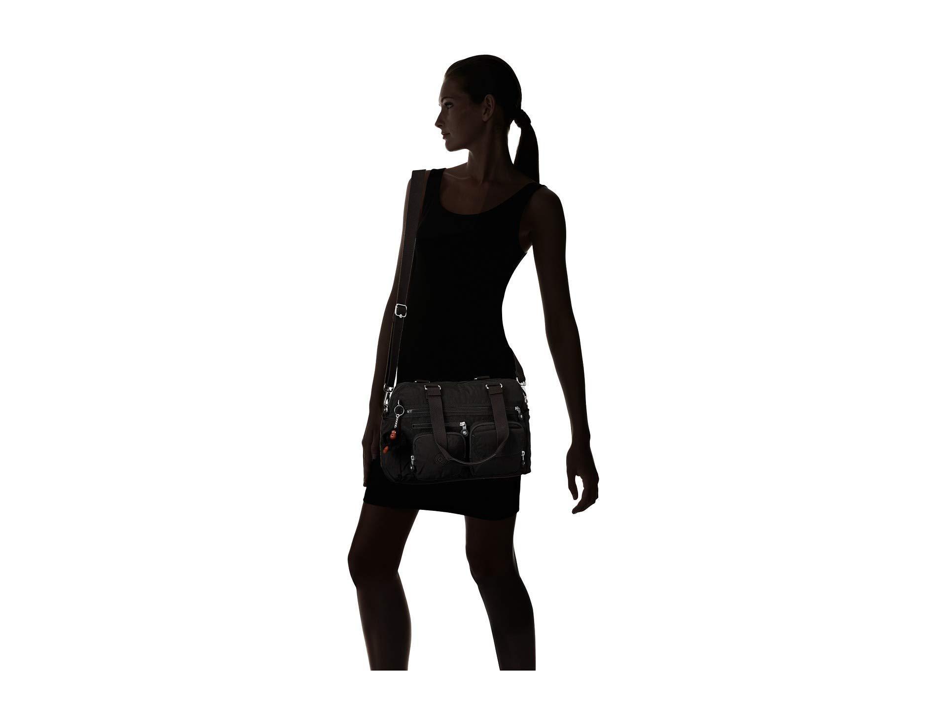 Lyst Kipling Mara Satchel Black Satchel Handbags In Black