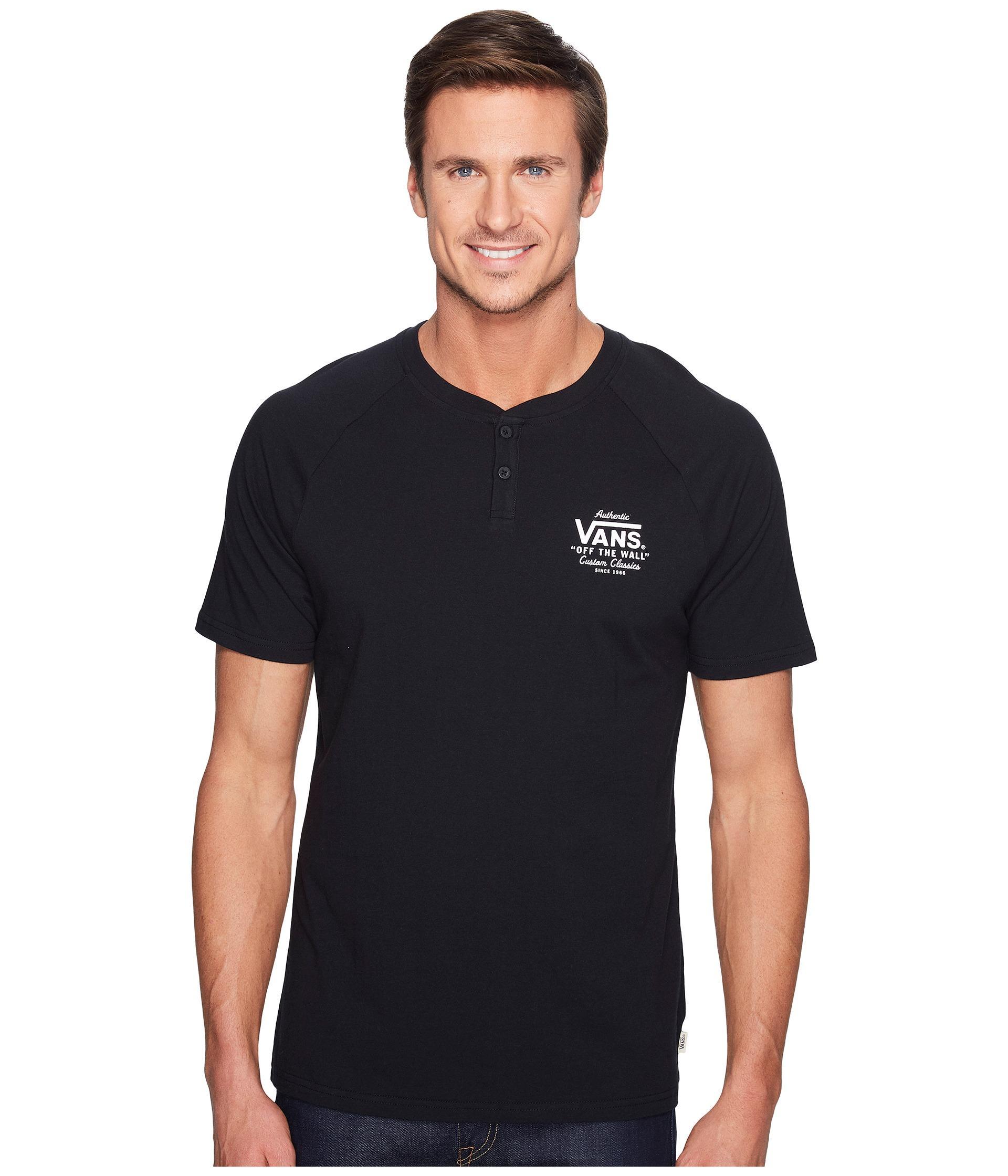 95a7549b2a Lyst - Vans Holder Street Short Sleeve Henley in Black for Men