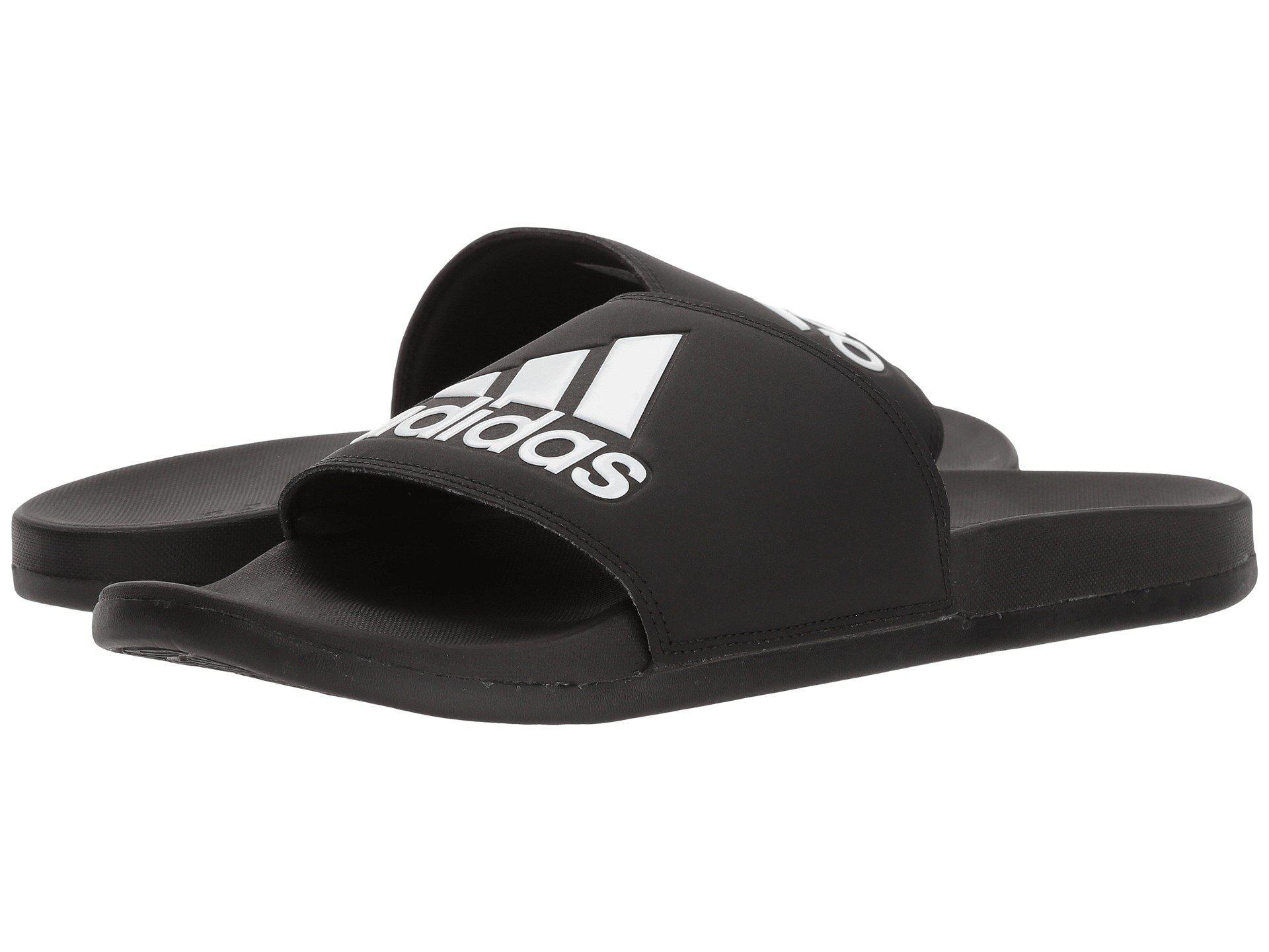 9673ef7f88a394 Adidas - Adilette Cf+ Logo (black black white) Men s Slide Shoes for. View  fullscreen