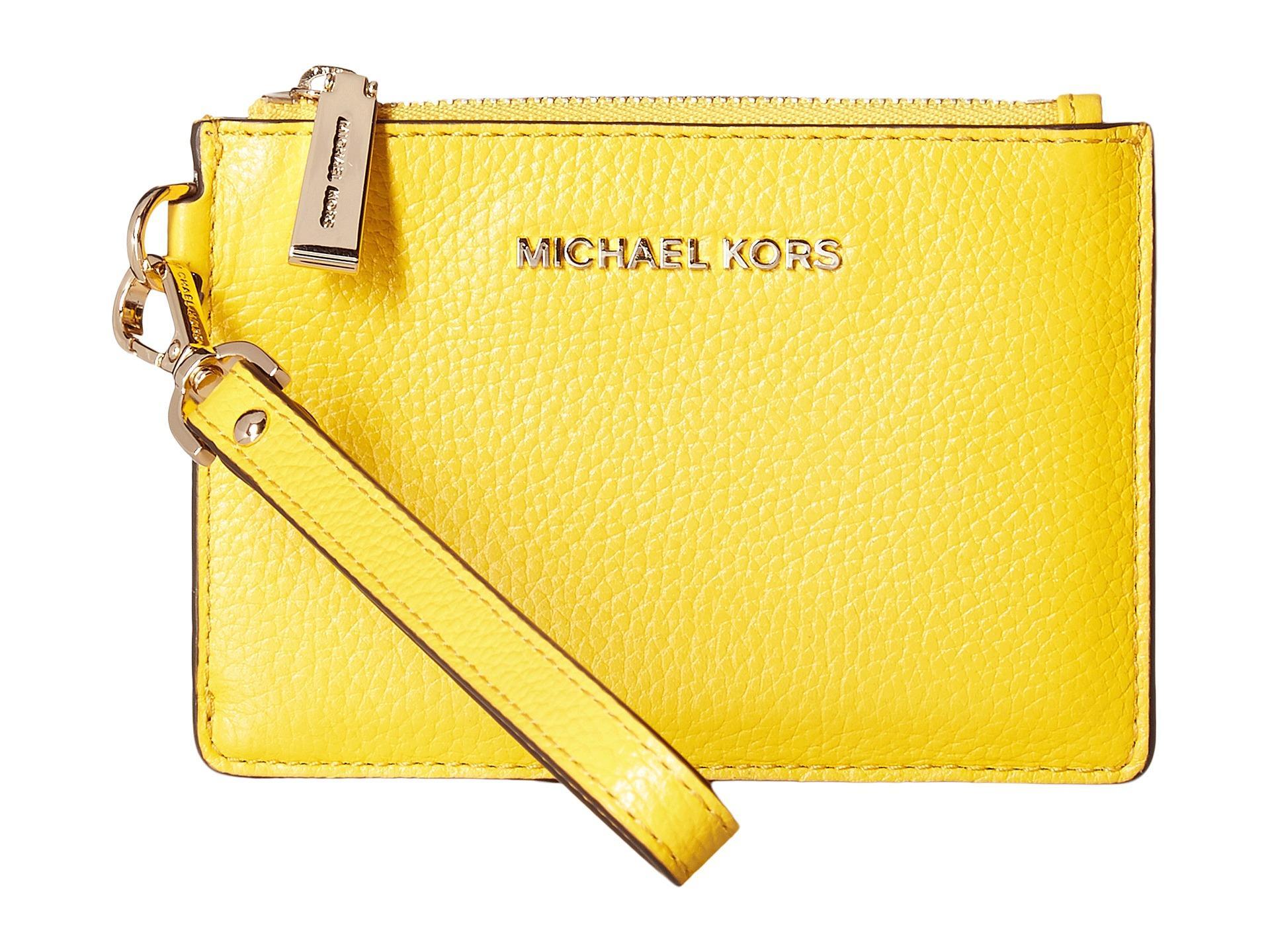 1ff0b8046142a4 MICHAEL Michael Kors Mercer Small Coin Purse in Yellow - Lyst