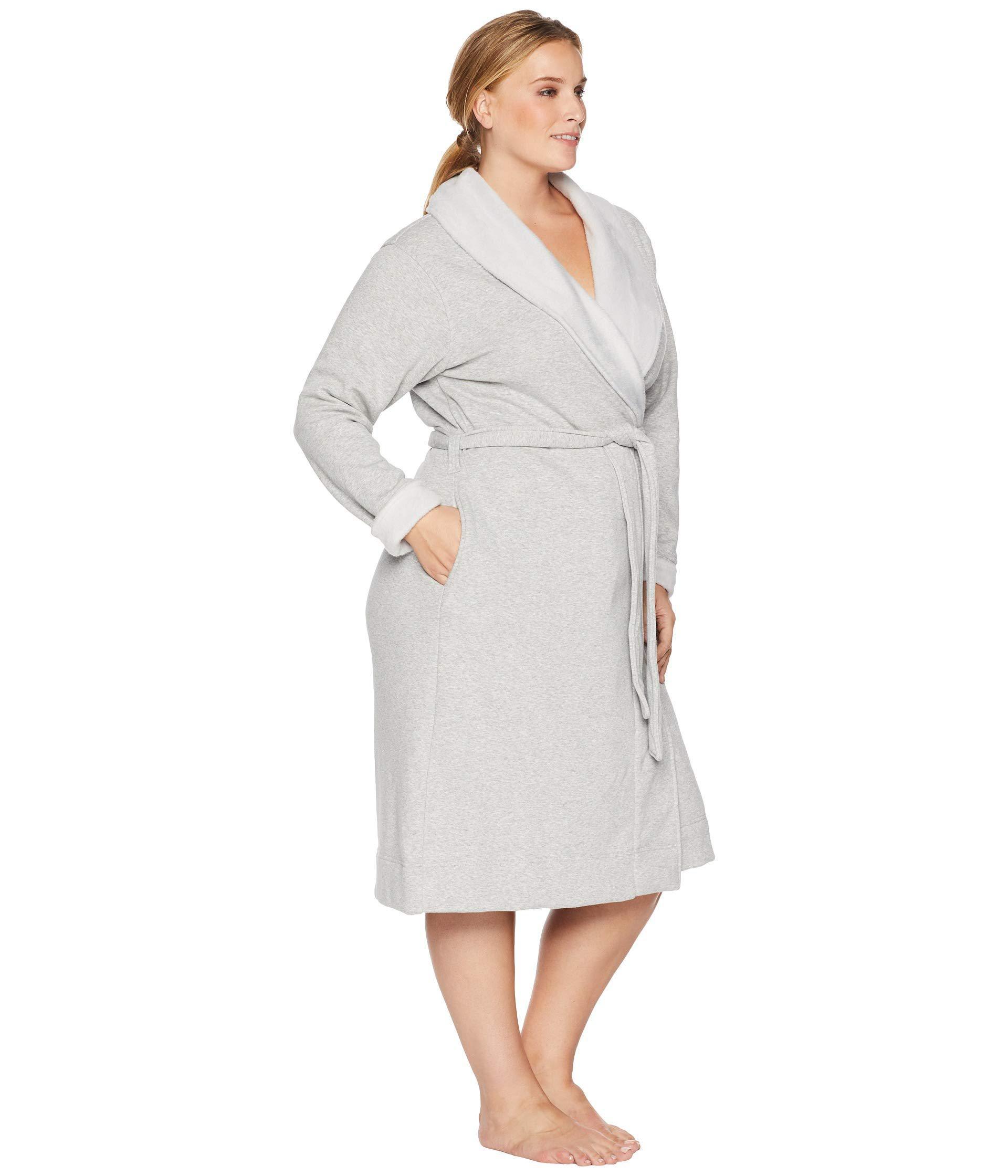 44fa8aed36 Ugg - Gray Plus Size Duffield Ii Robe (black Bear Heather) Women s Robe -.  View fullscreen