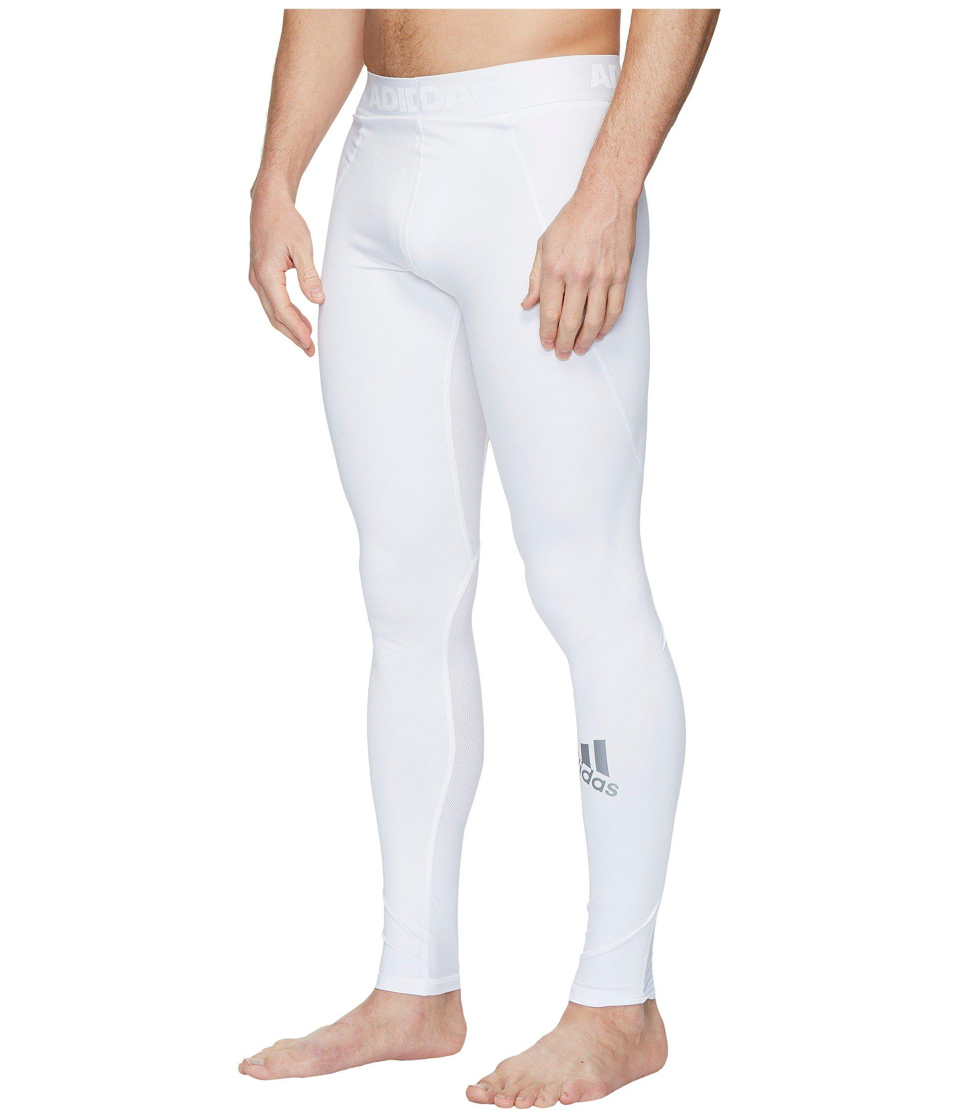 new products 2ec7c 95b58 Lyst - adidas Alphaskin Sport Long Tights (black) Men s Workout in White for  Men