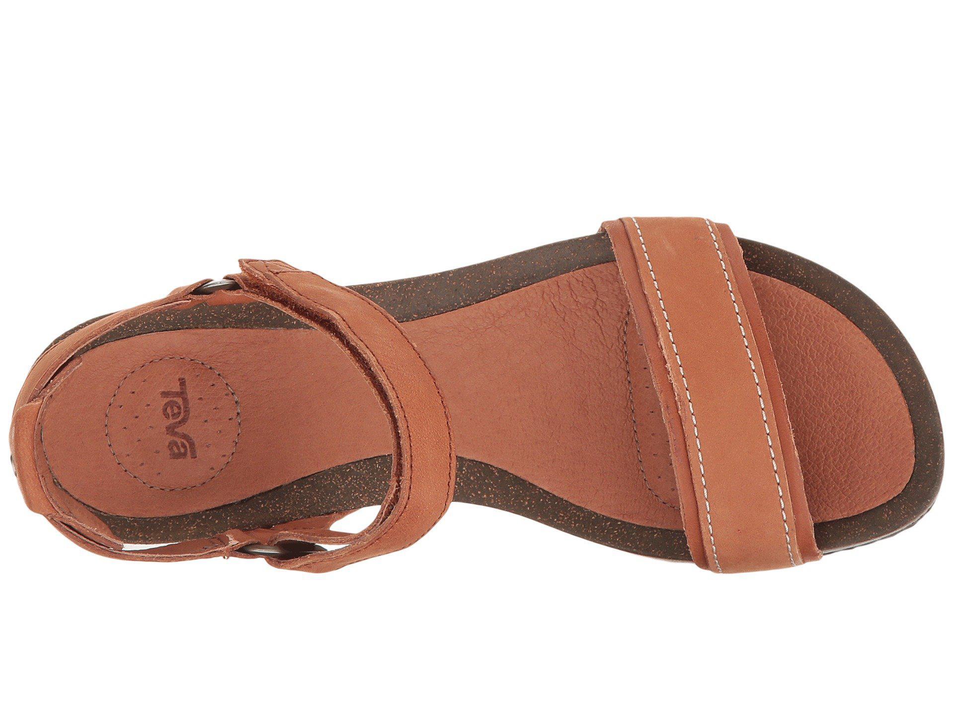 ec1f8bf20b33 Teva - Brown Ysidro Stitch Wedge Sandals - Lyst. View fullscreen